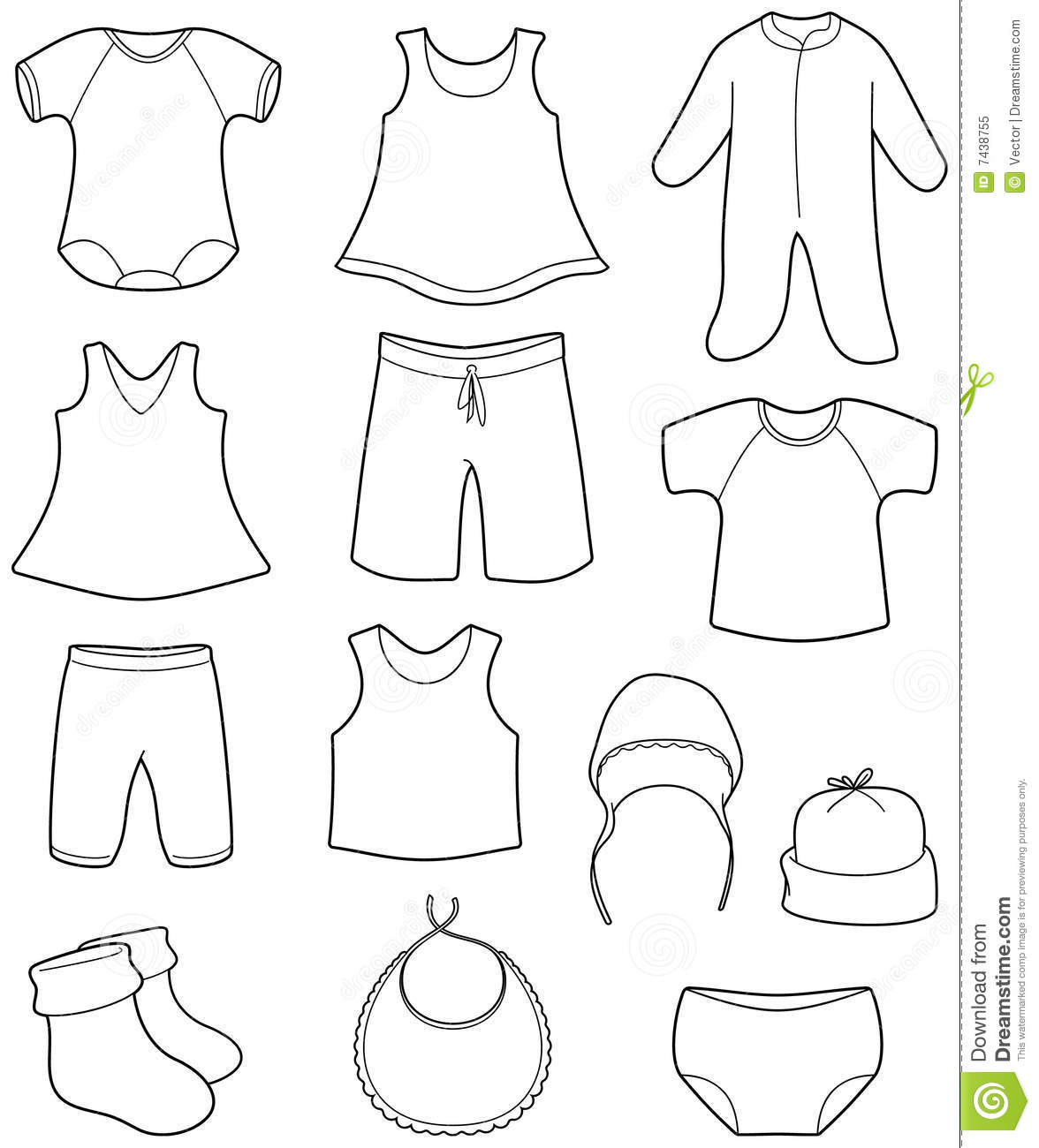 Children S And Babies Clothes Royalty Free Stock Photo