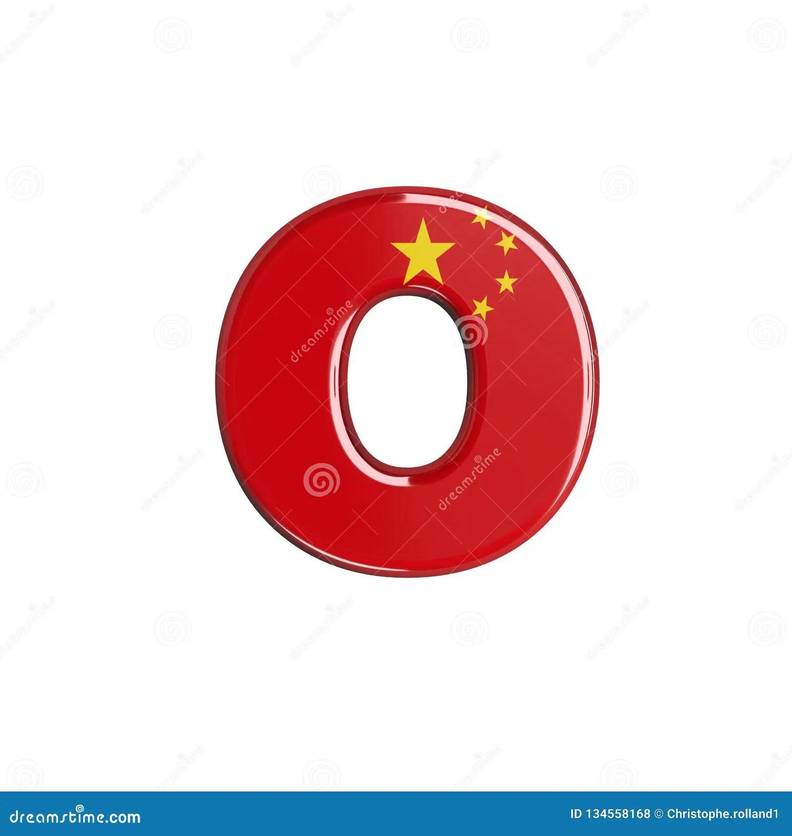 China Flag Letter O
