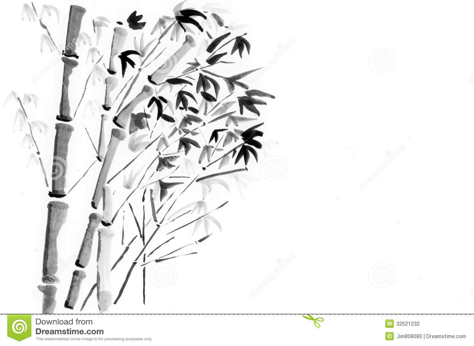 China Painting Bamboo Stock Photography