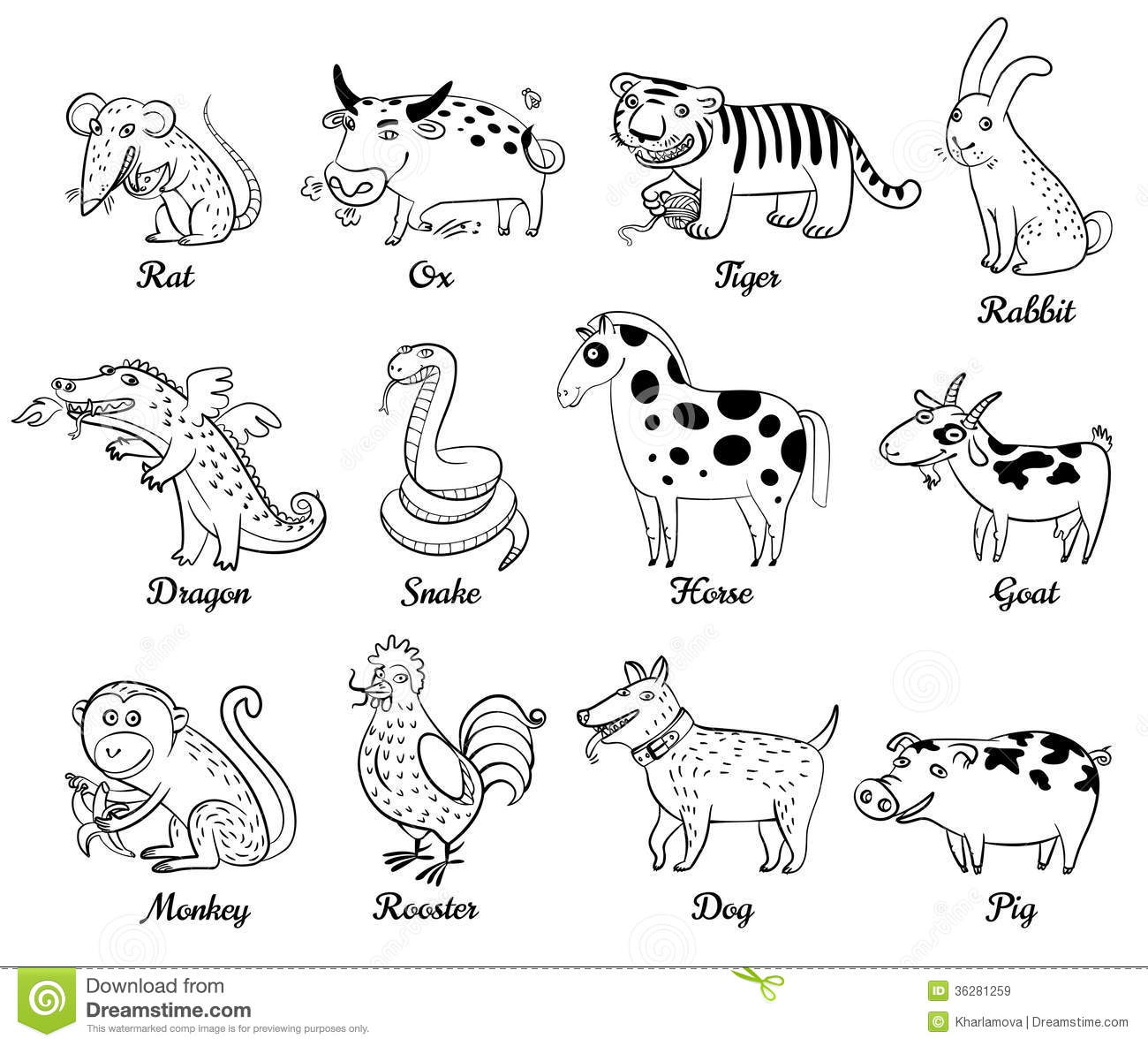 Chinese Astrology Royalty Free Stock Images