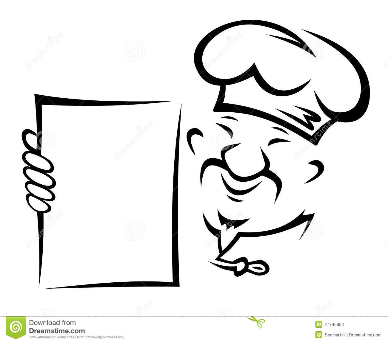 Chinese Chef With Menu Stock Vector Image Of Healthy