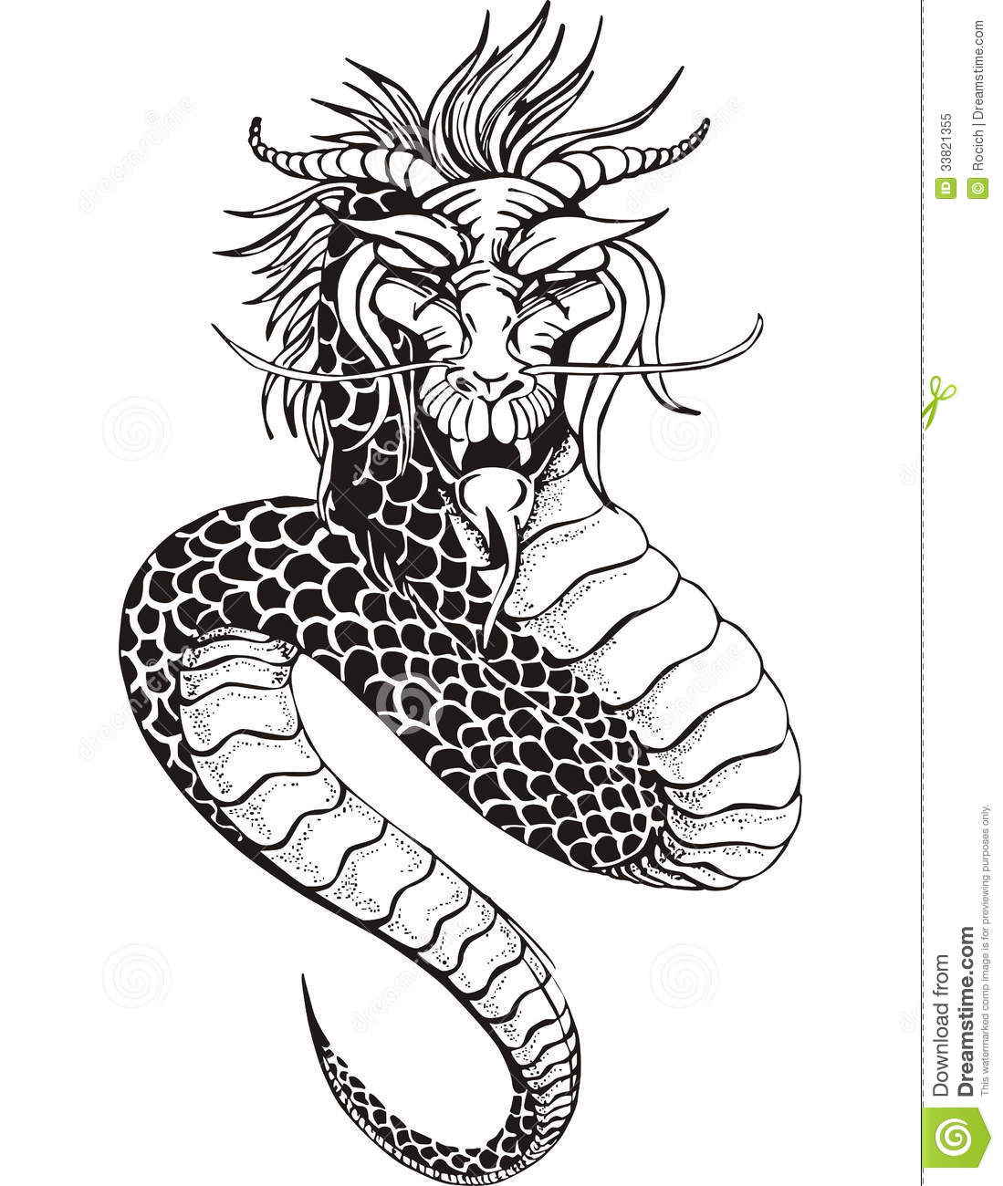 Chinese Dragon Serpent Royalty Free Stock Photo