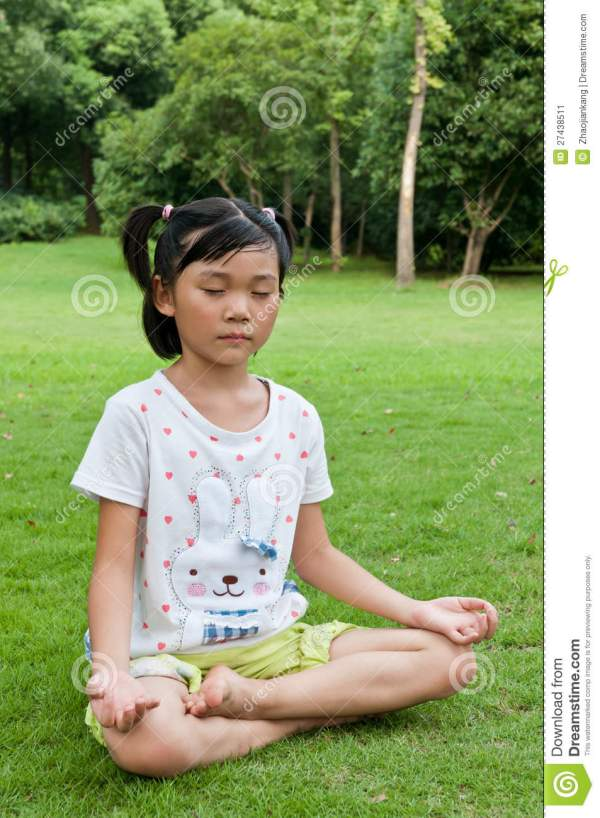 Chinese girl practice yoga stock image. Image of children ...