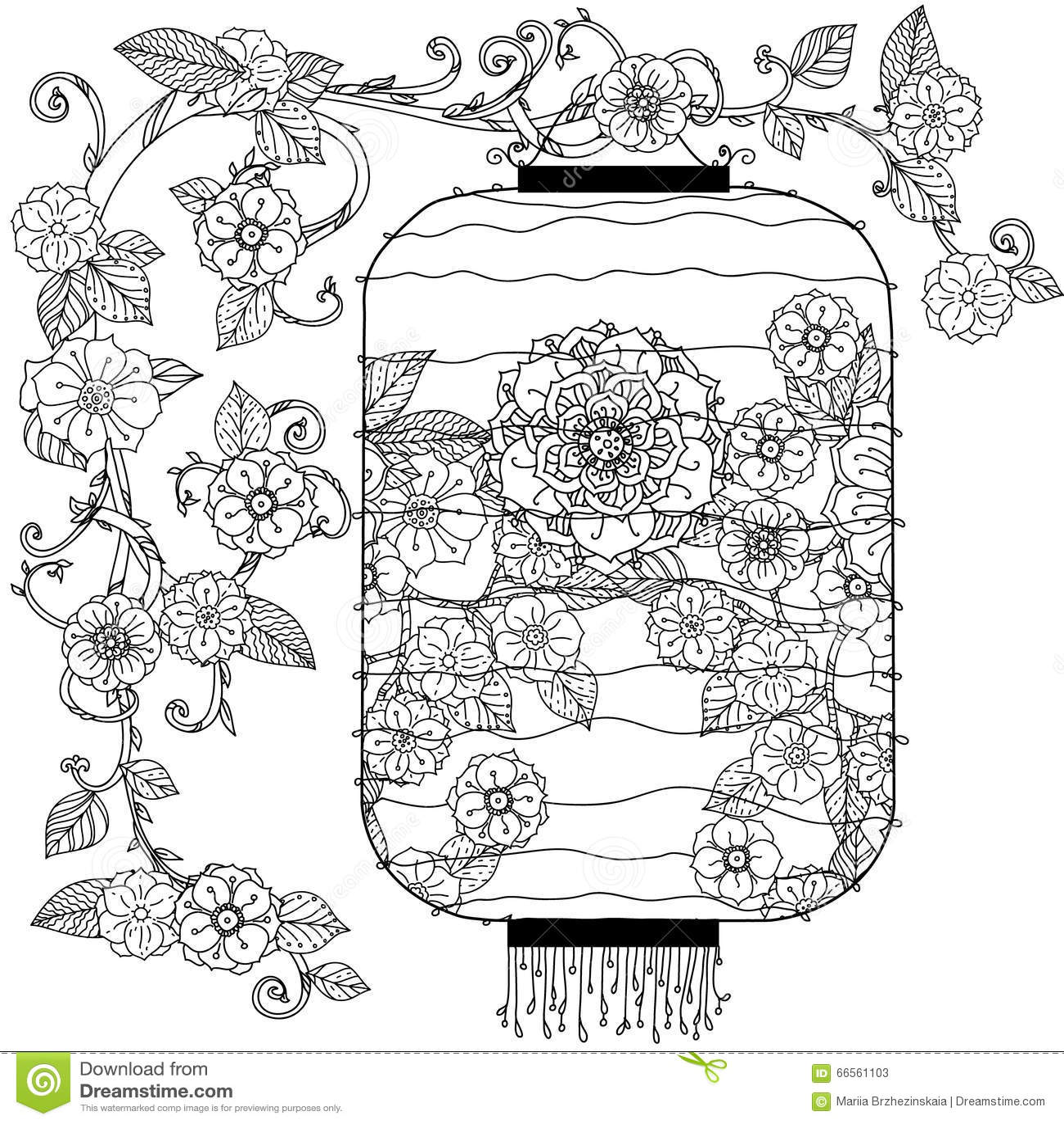 Chinese Lantern Zentagle Stock Vector