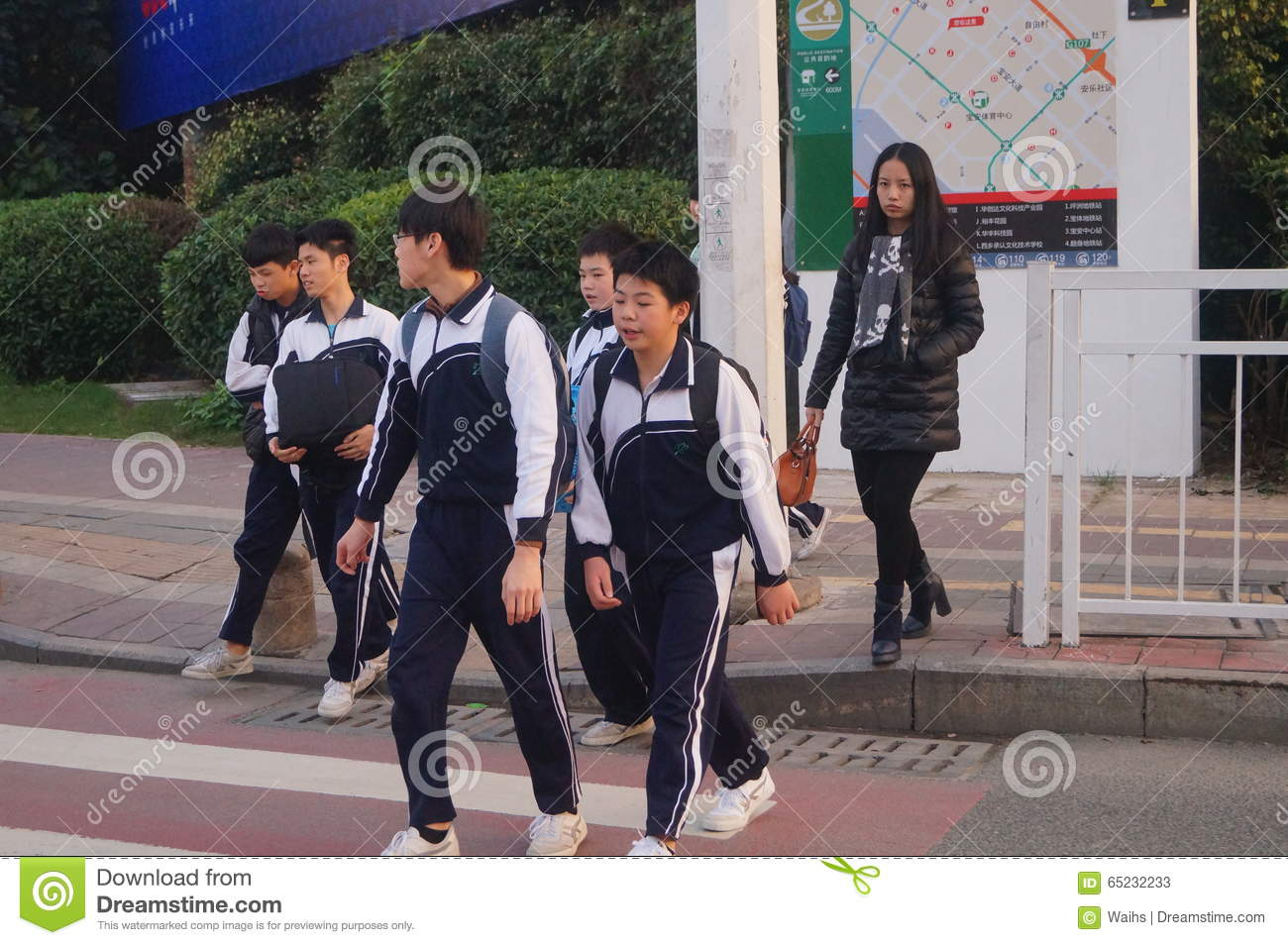 Chinese Middle School Students Editorial Stock Photo