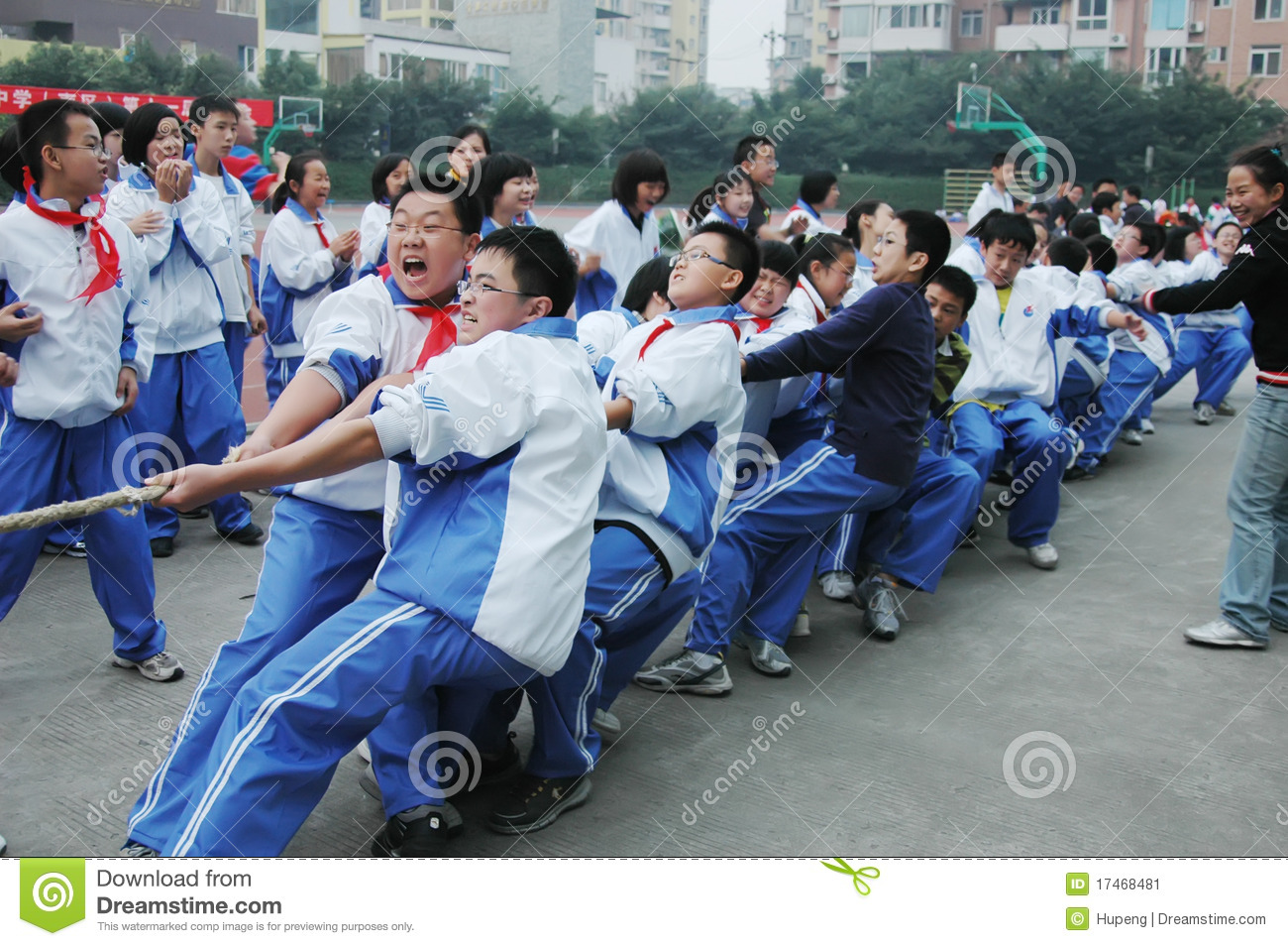 Chinese Middle School Tug Of War Competition Editorial