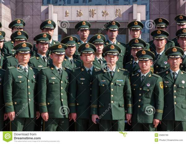 Chinese Military Police In Shanghai Editorial Stock Image ...