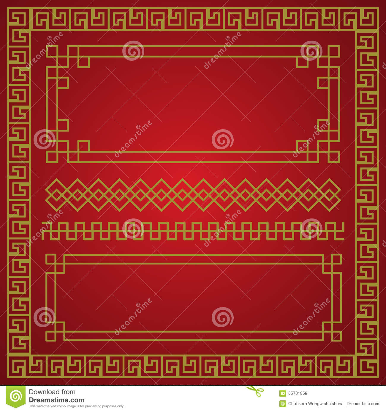 Chinese New Year Border  Vector Elements Illustration 65701858     Chinese new year border  vector elements