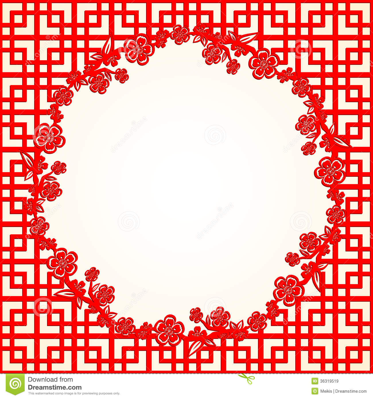 chinese new year cherry blossom background royalty free stock