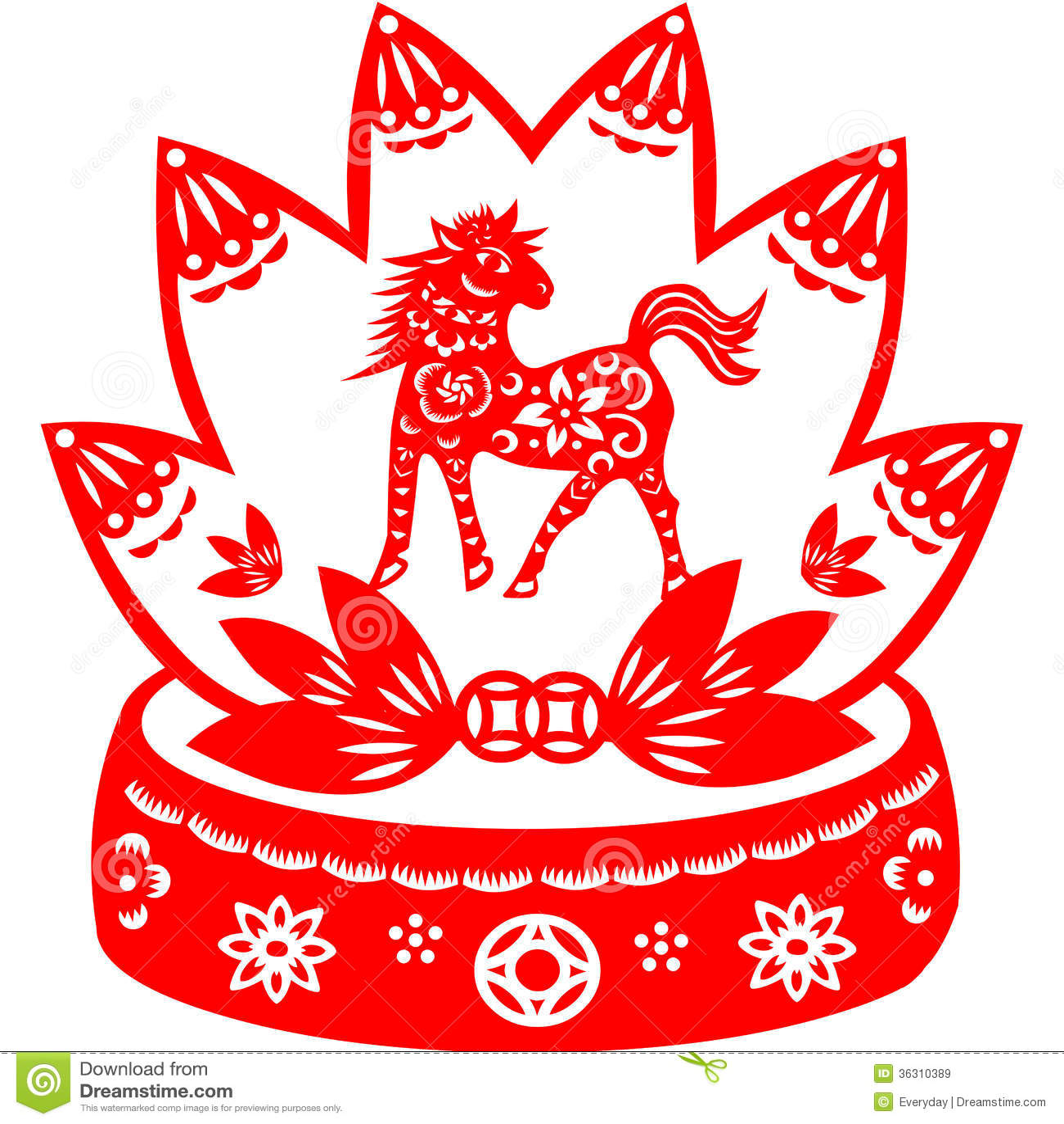 Chinese New Year Horse Stock Illustration Illustration Of