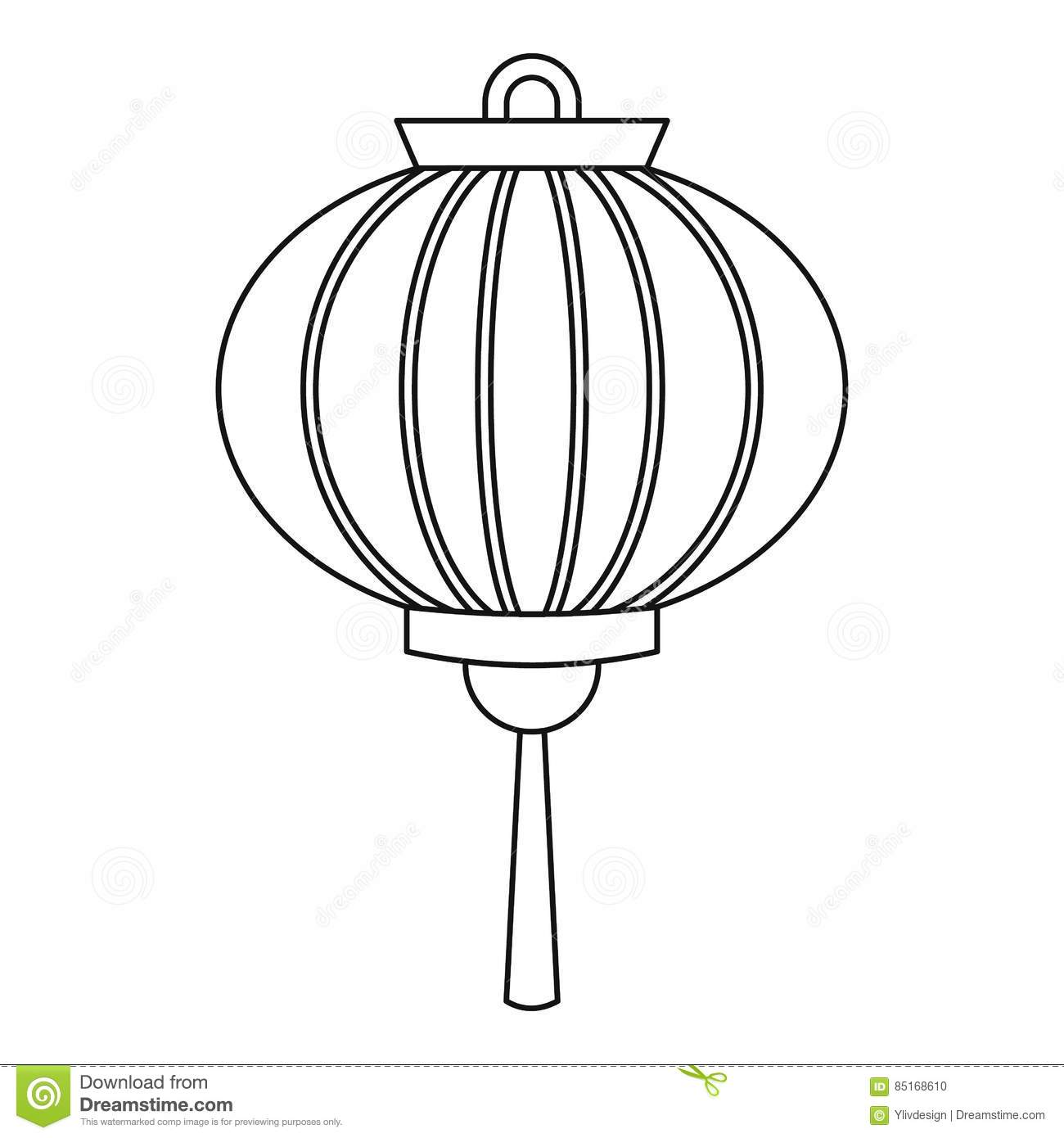 Chinese Paper Lantern Coloring Pages Sketch Coloring Page