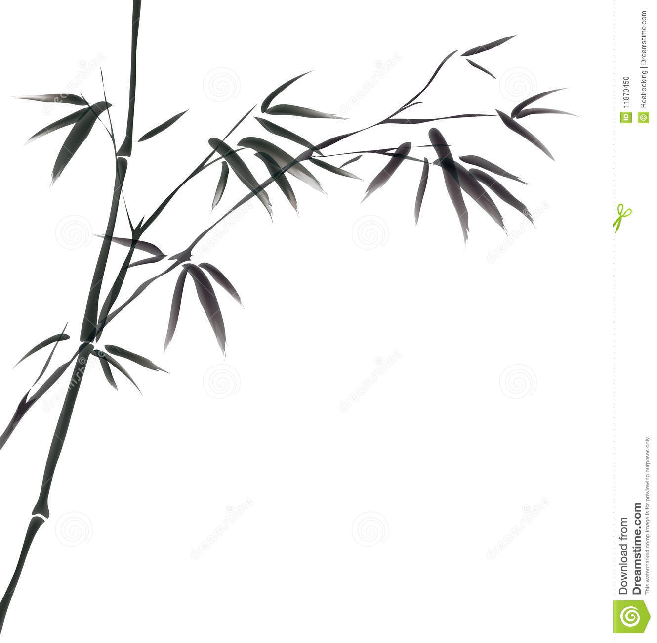 Chinese Painting Of Bamboo Stock Photo