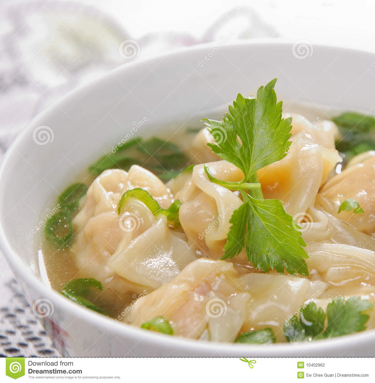 Chinese Traditional Dumplings Soup Stock Photography