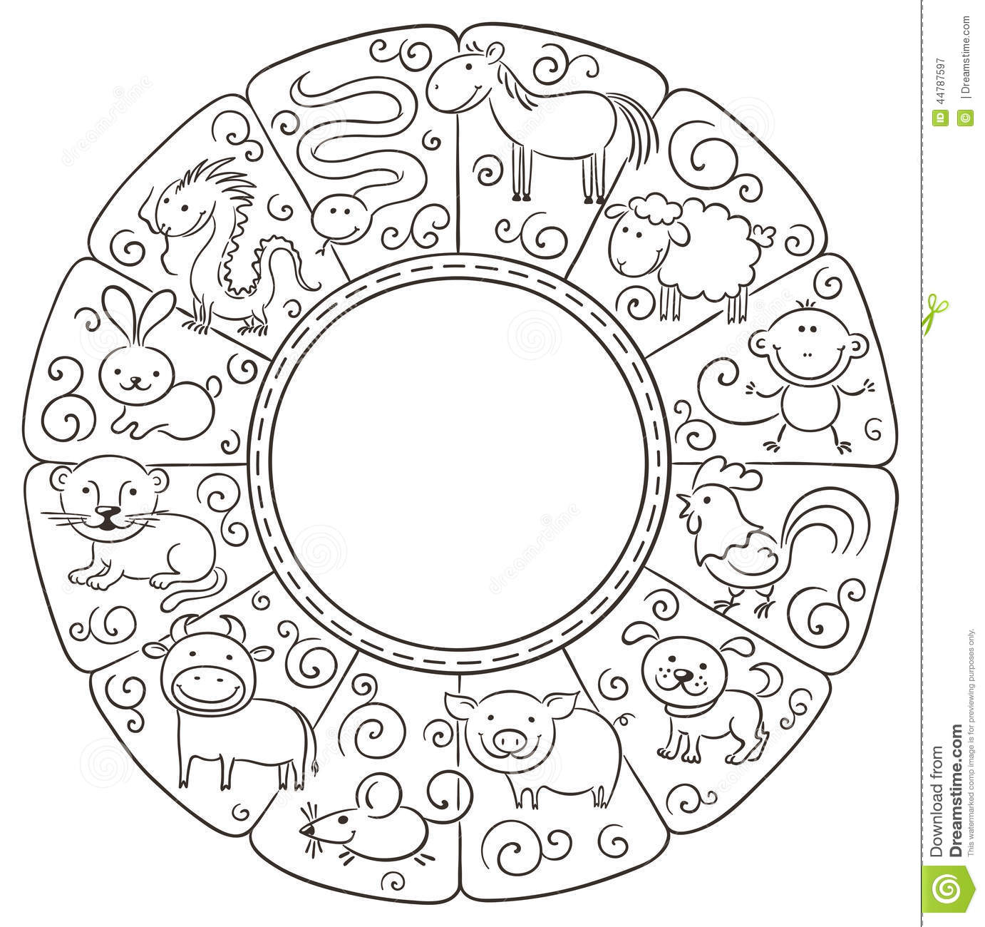 Chinese Zodiac Signs Stock Vector