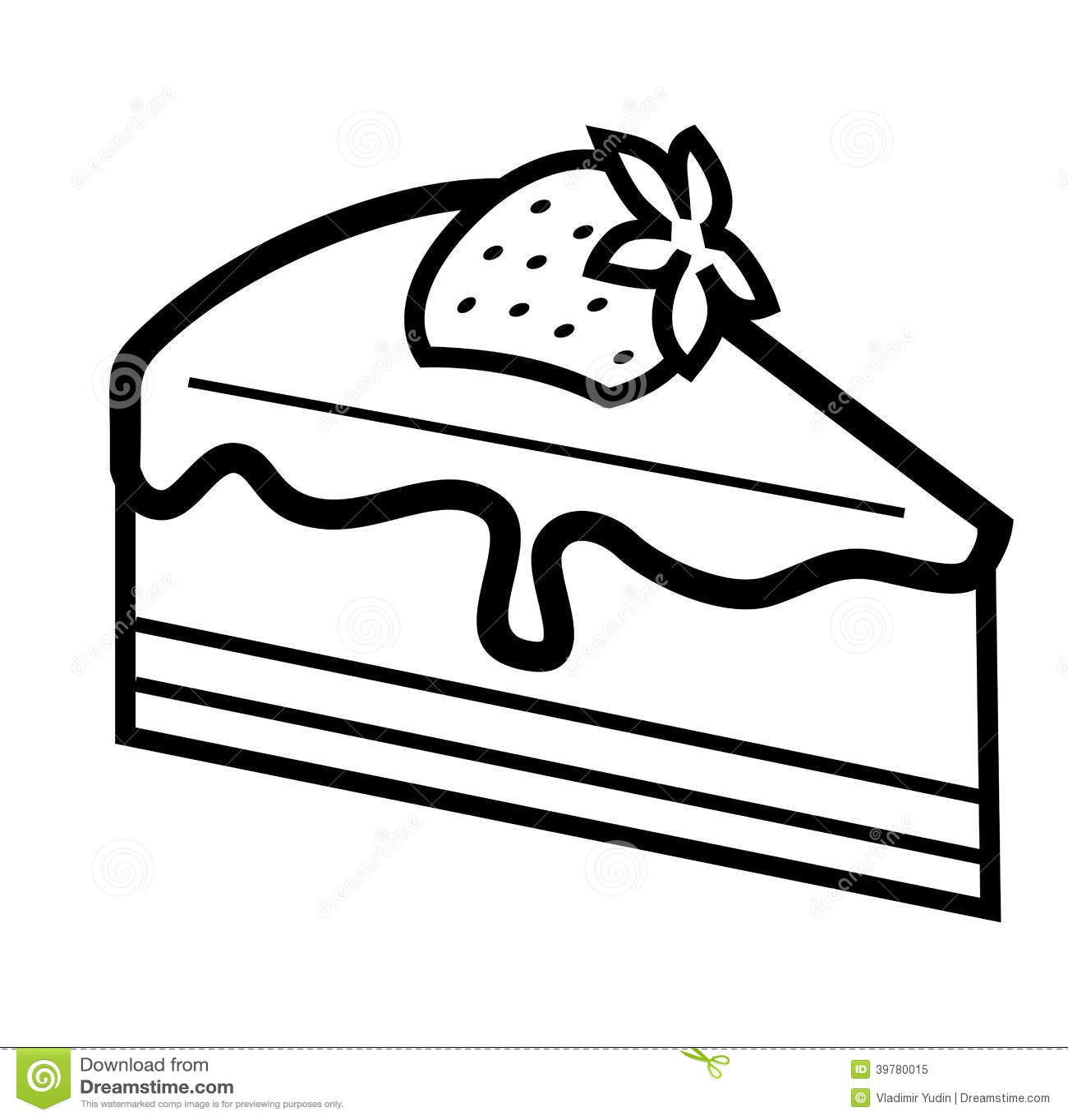 Chocolate Cake Stock Vector Illustration Of Torte Tasty