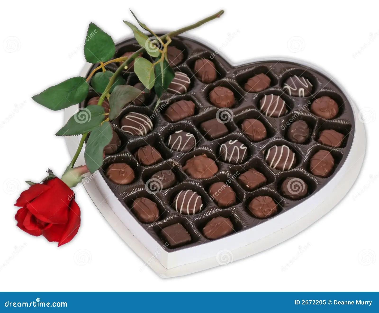 Chocolate And Rose Stock Image Image Of Birthday