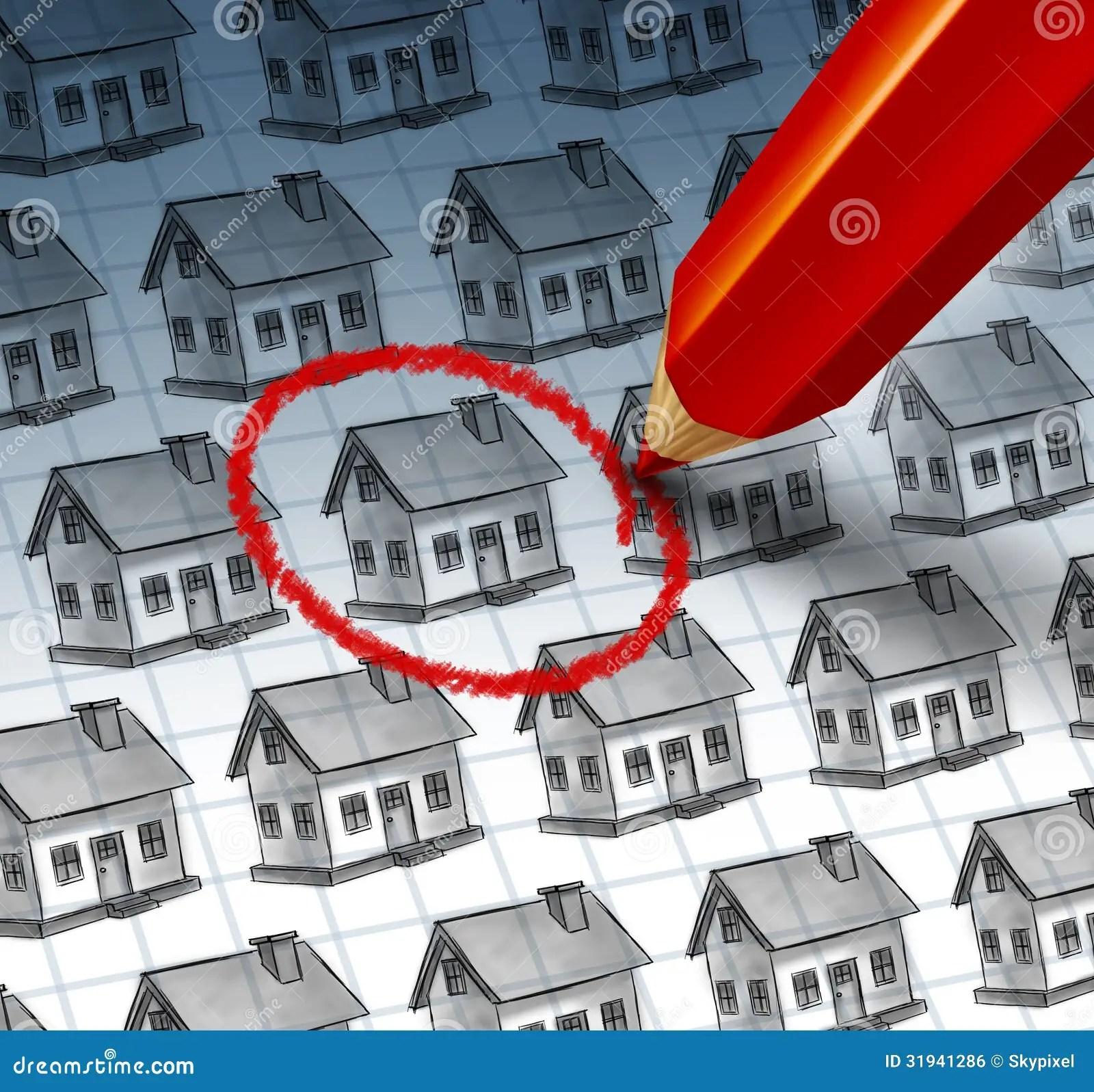 Choosing A Home Stock Illustration Illustration Of