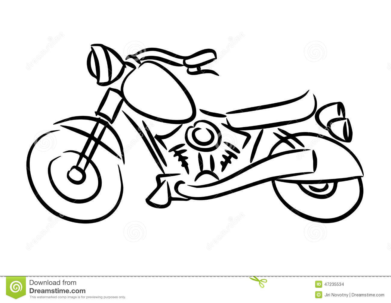How To Draw Simple Motorcycle