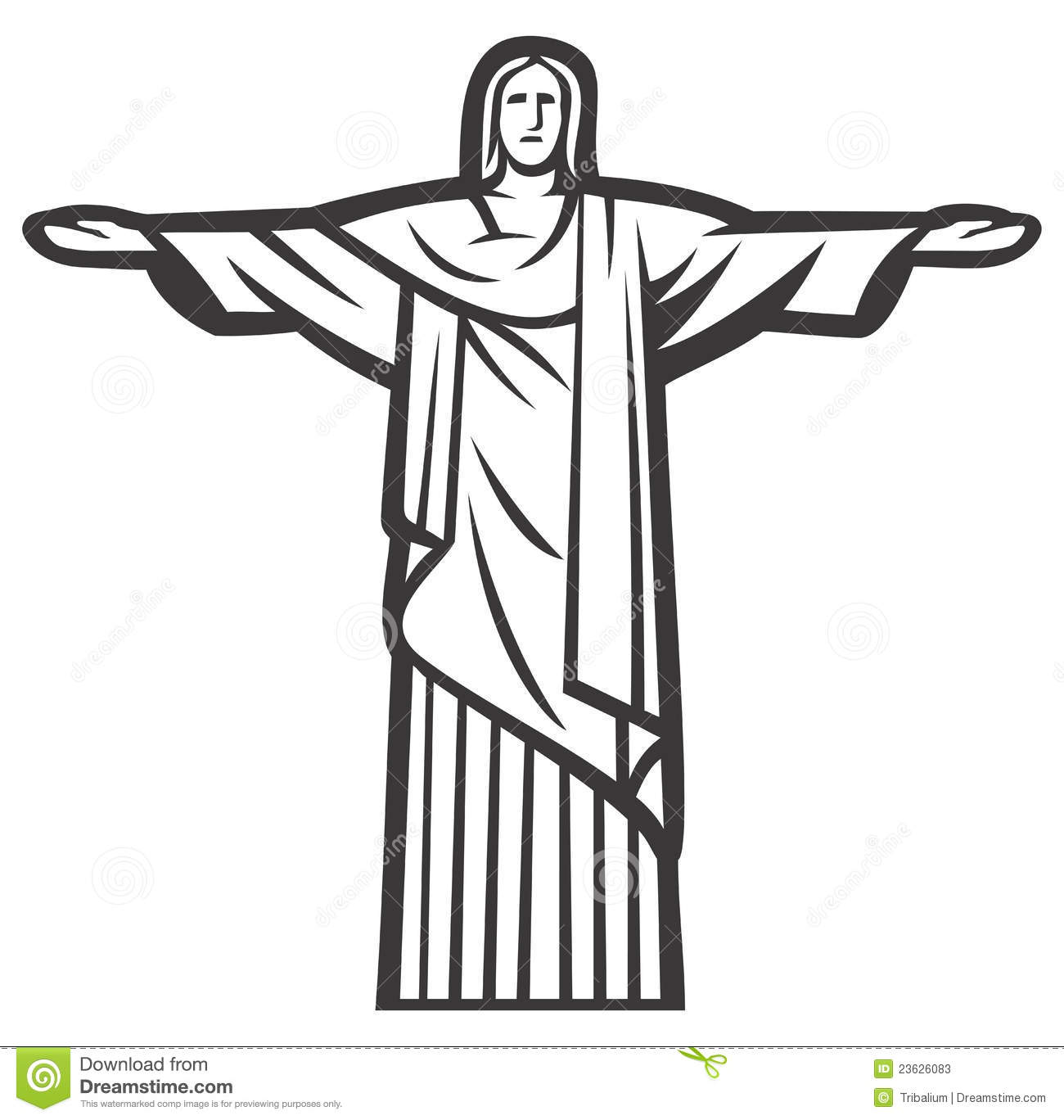 Christ The Redeemer Statue Stock Vector Illustration Of