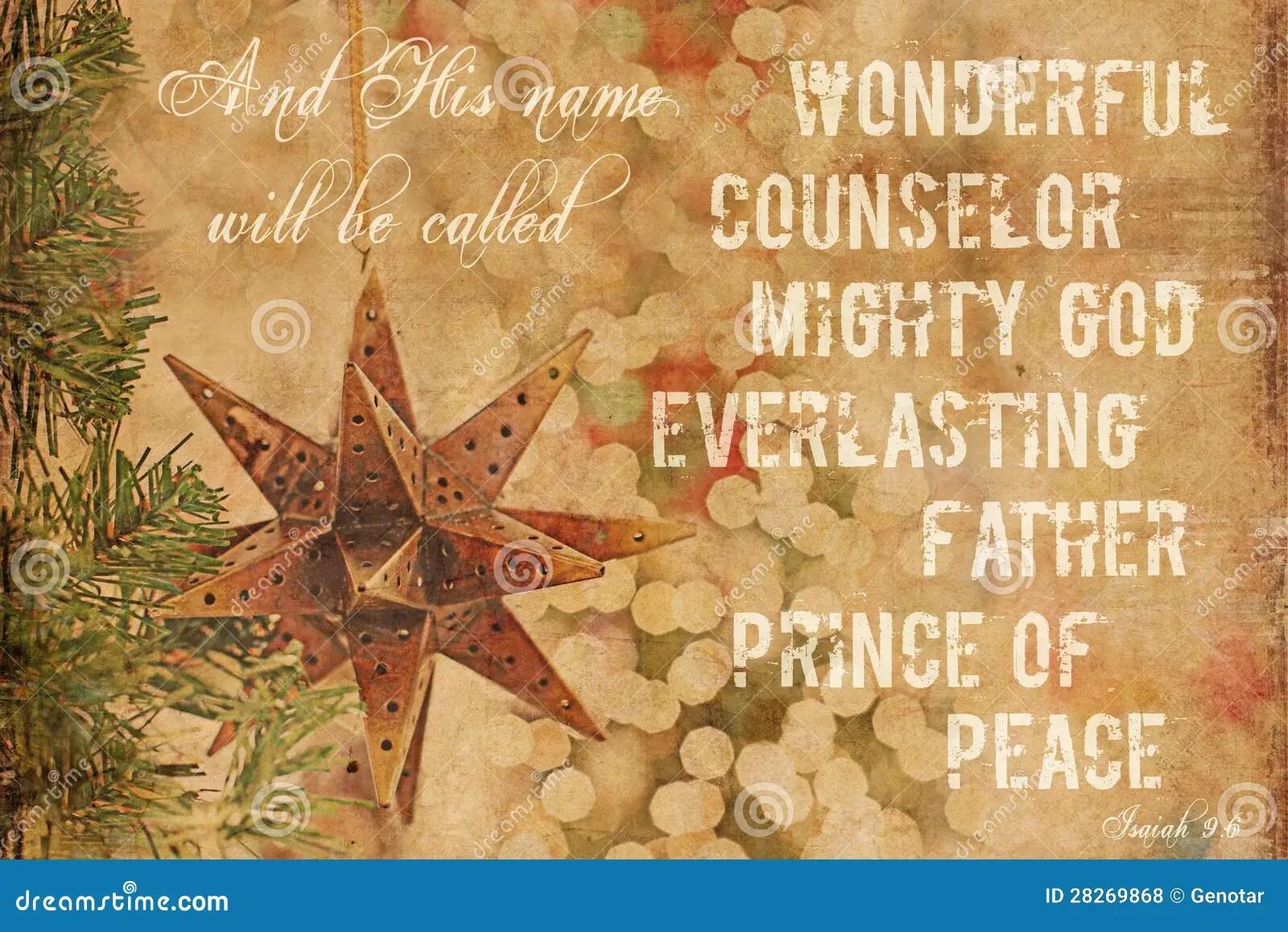 Christmas Background Isaiah 96 Stock Photo Image Of