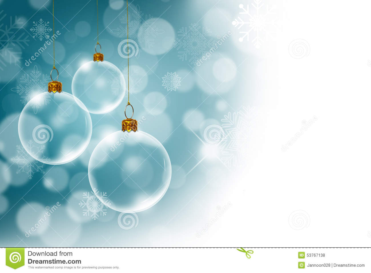 Christmas Background With Transparent Stock Photo Image