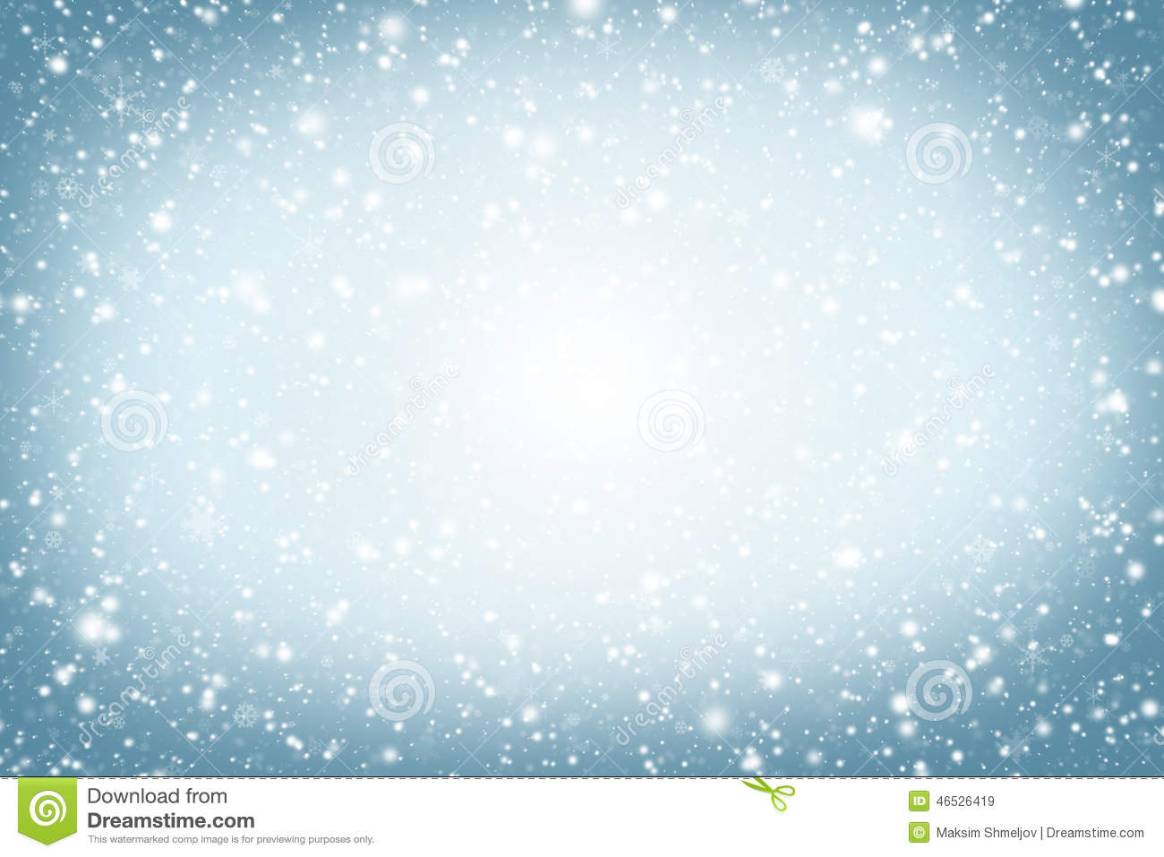 Christmas Background Winter Sky Snowflakes And Stars