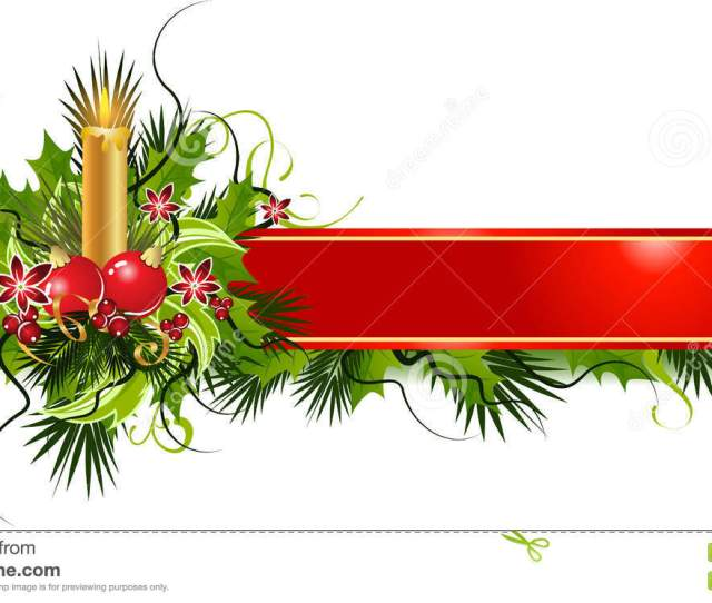 Christmas Banner Stock Vector Illustration Of Candle