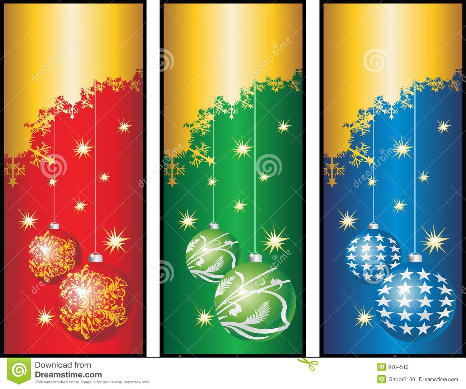 Christmas Bannerscdr Stock Photography Image 6704512