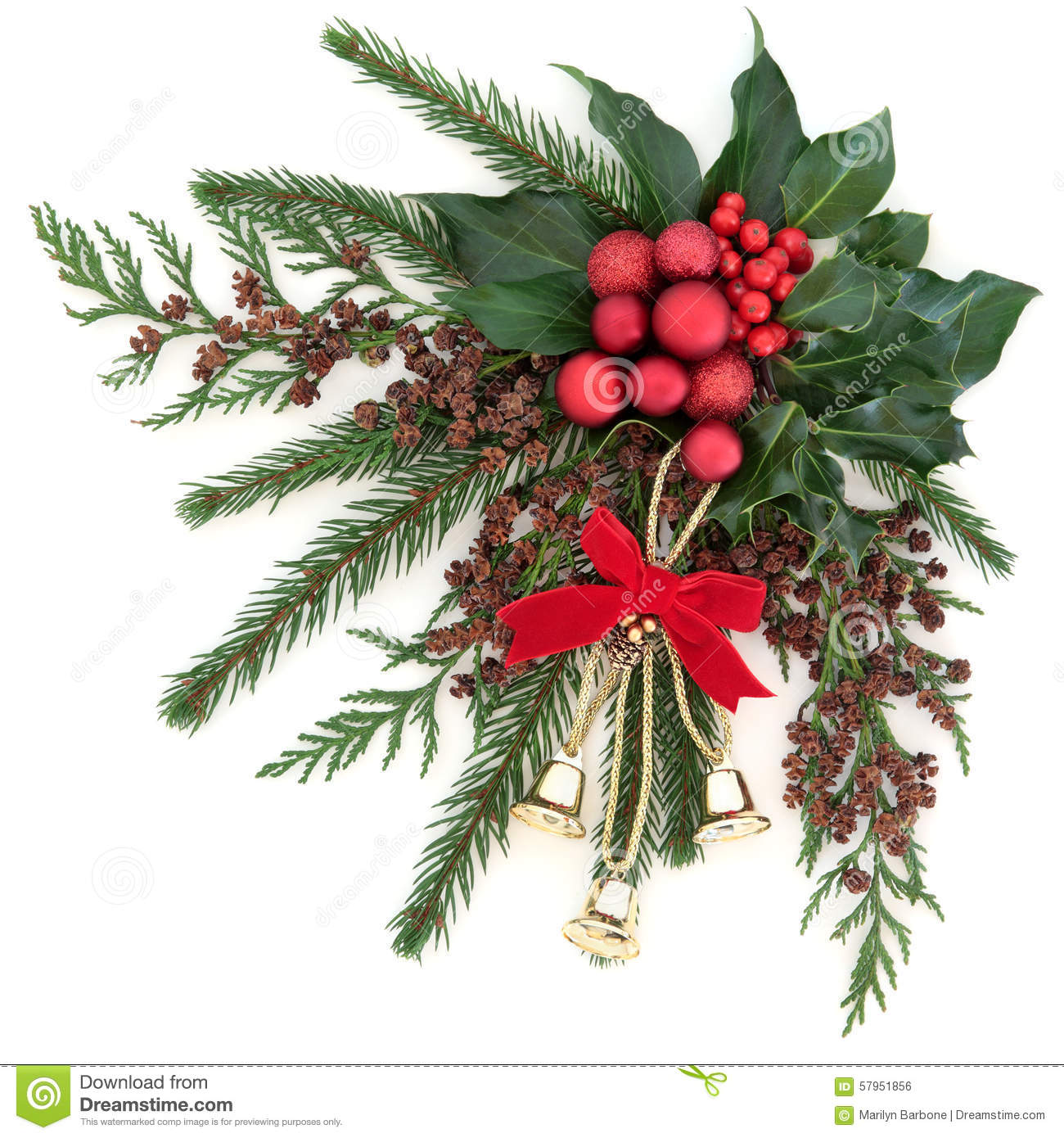 Christmas Bells And Baubles Stock Photo Image 57951856