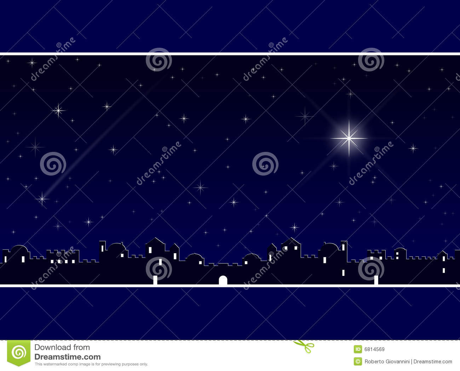 Christmas In Bethlehem Blue Stock Illustration Image