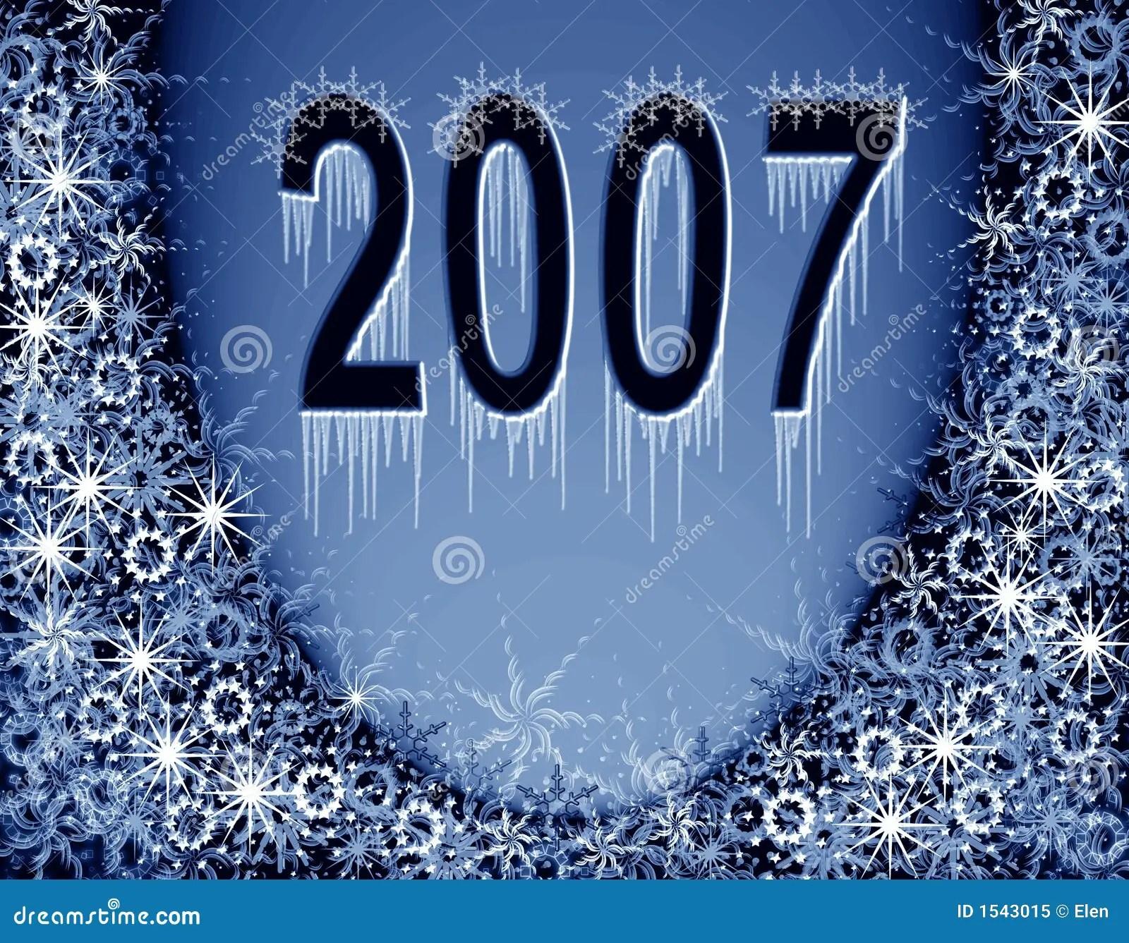 Christmas Blue Magic Frame New 2007 Year Stock