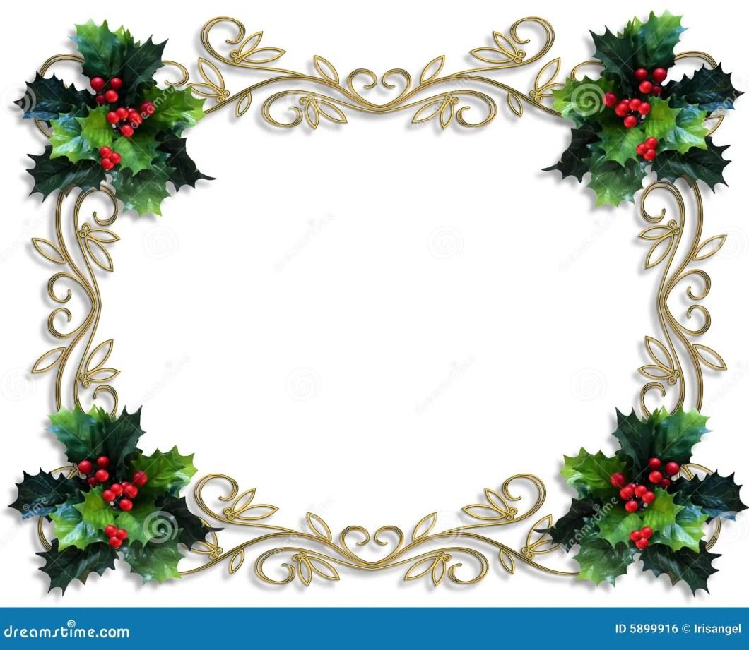 Christmas Card Border Templates | Creativeletter.co