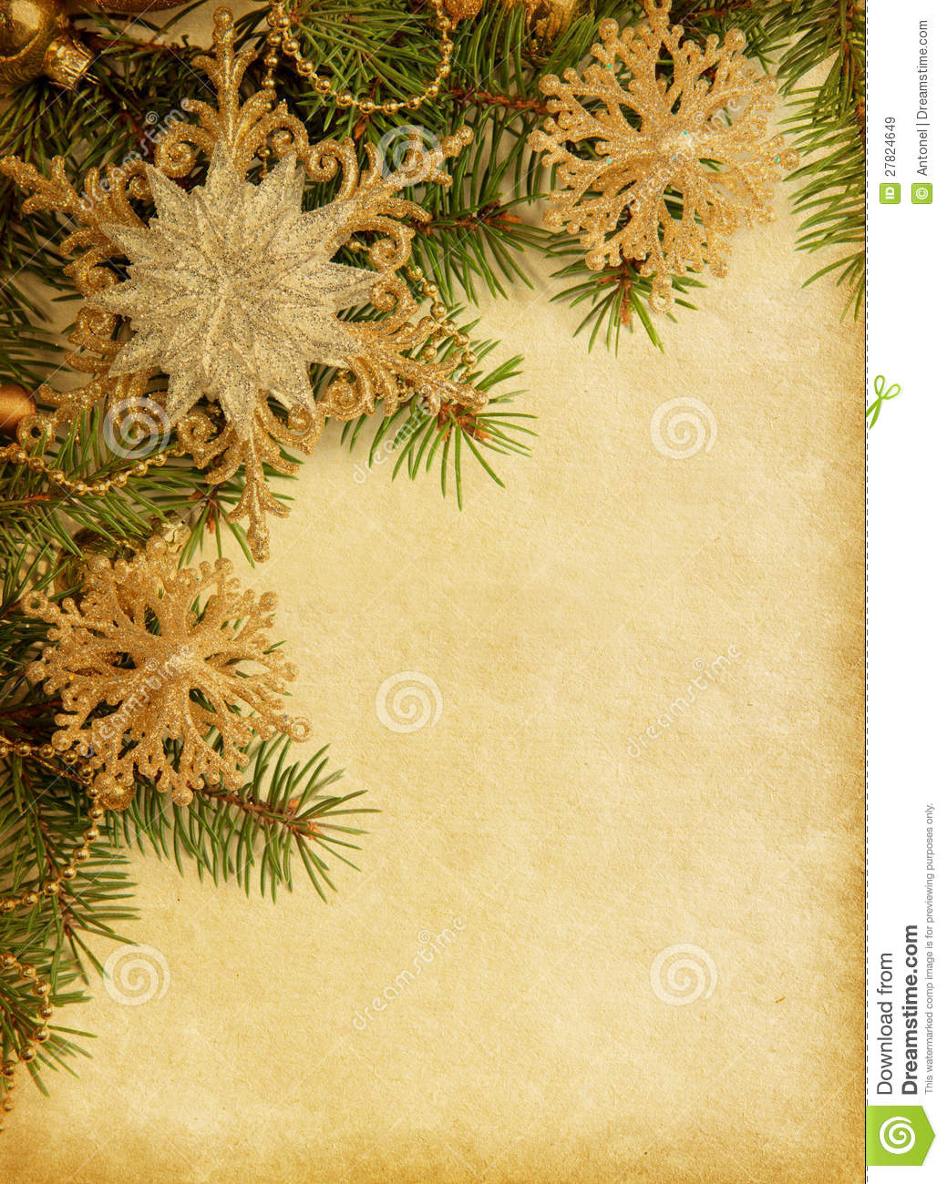 Christmas Border Lined Paper Writing