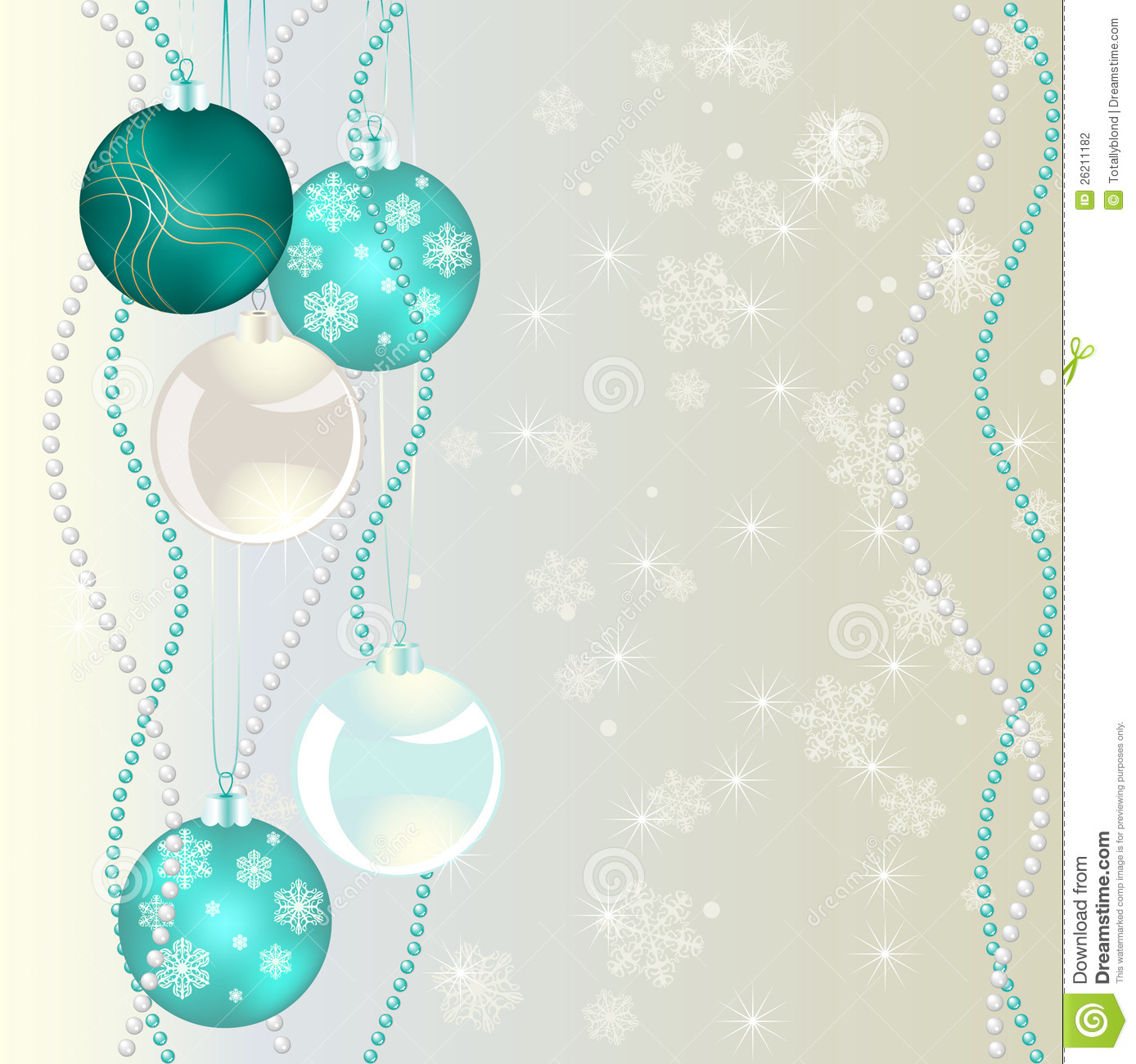 Christmas Bubbles On Abstract Background Stock Photography