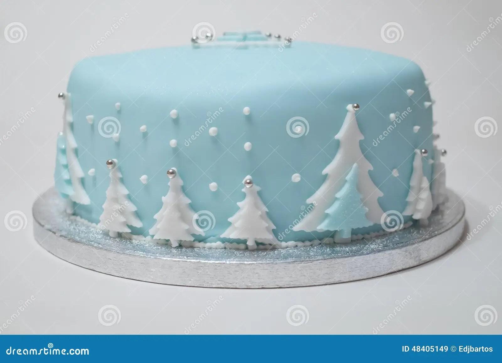 Christmas Cake Stock Image Image Of Iced Celebration