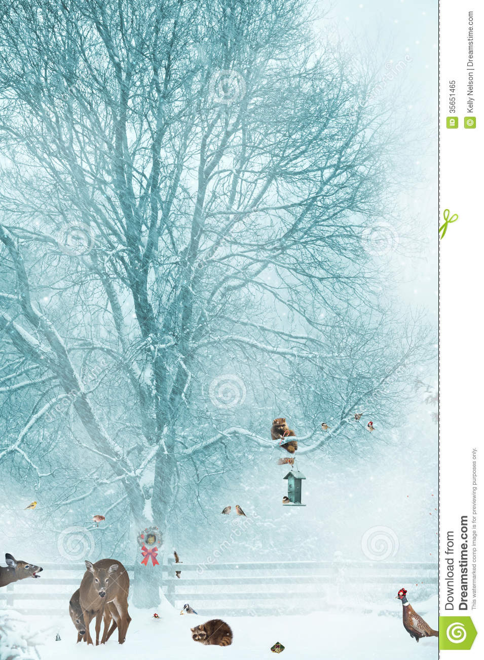 Christmas Card Background Royalty Free Stock Photo