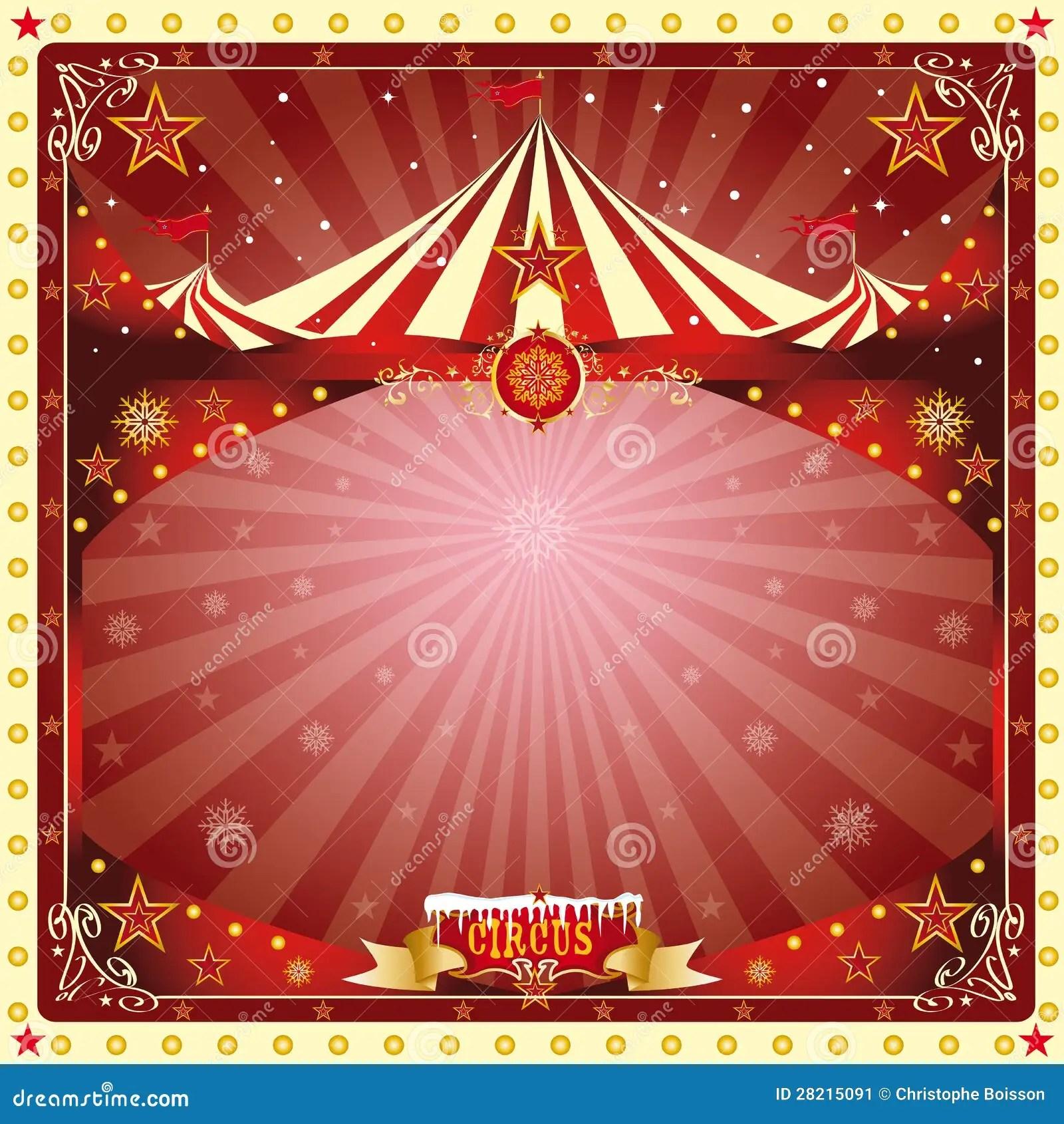 Christmas Card Circus Stock Image Image 28215091