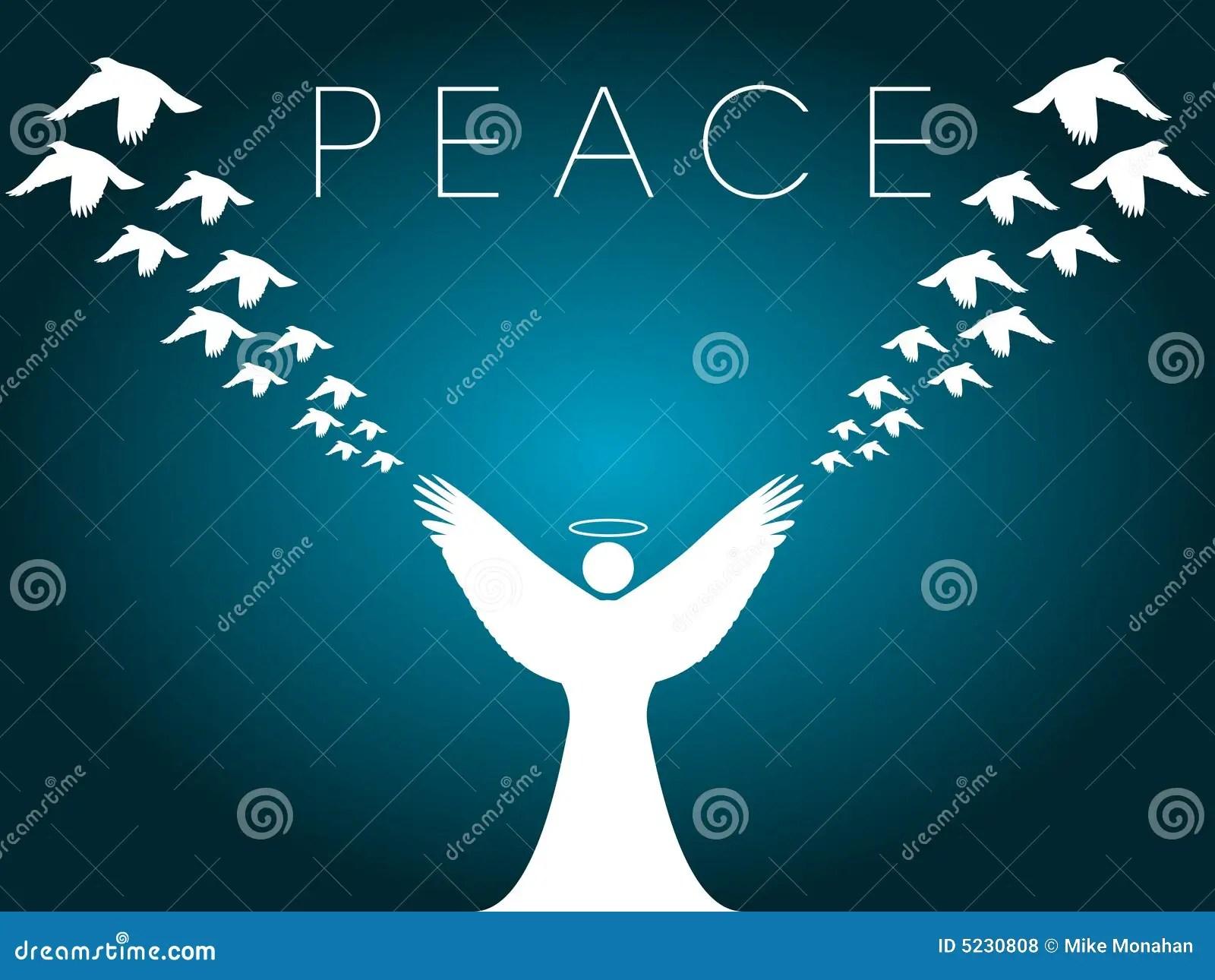Christmas Card Peace Design Stock Vector Illustration Of