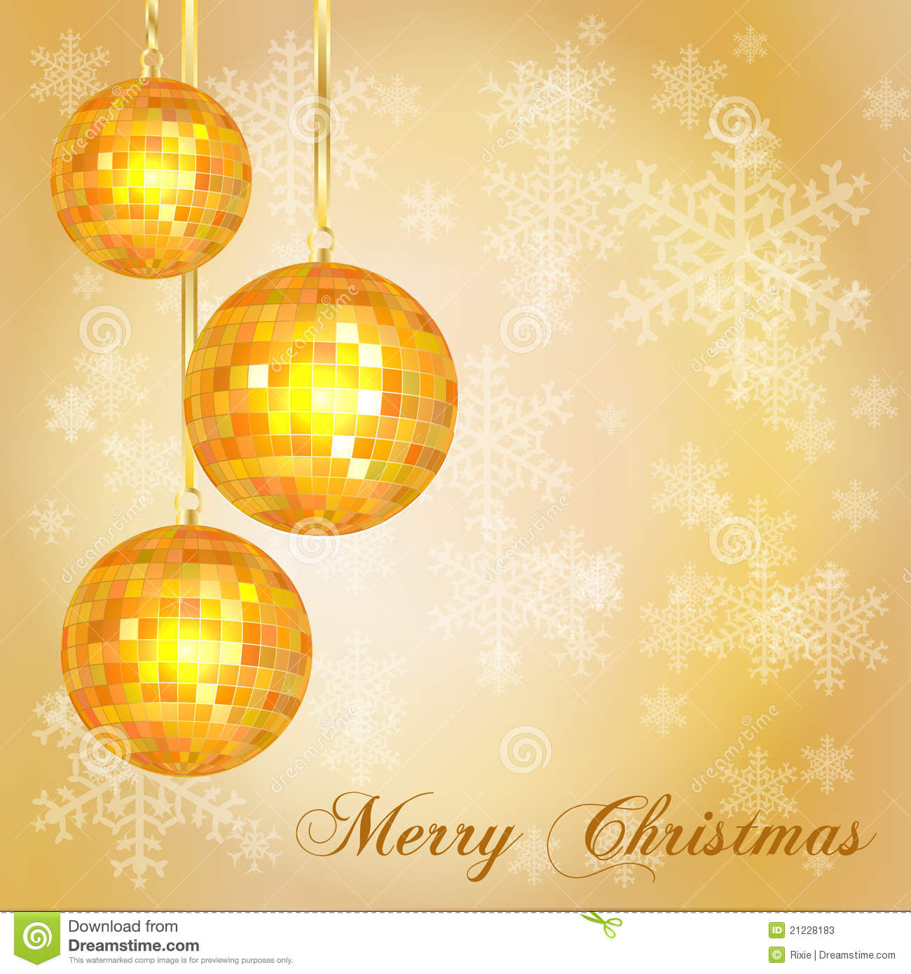 Christmas Card Template Gold Stock Vector Image 21228183