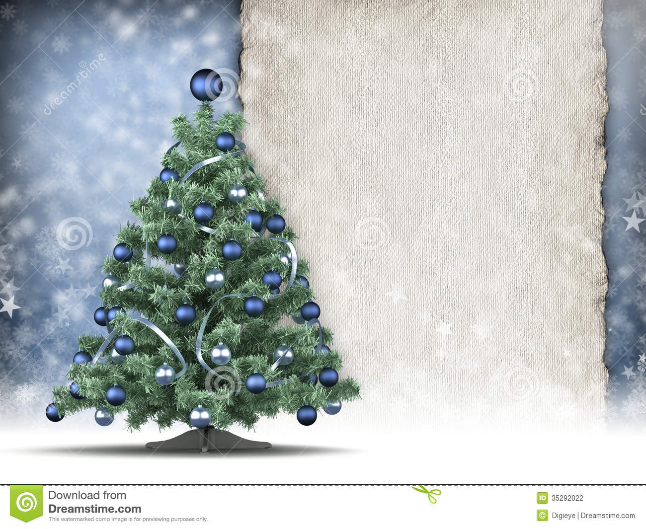 Christmas Card Template Stock Illustration Image Of