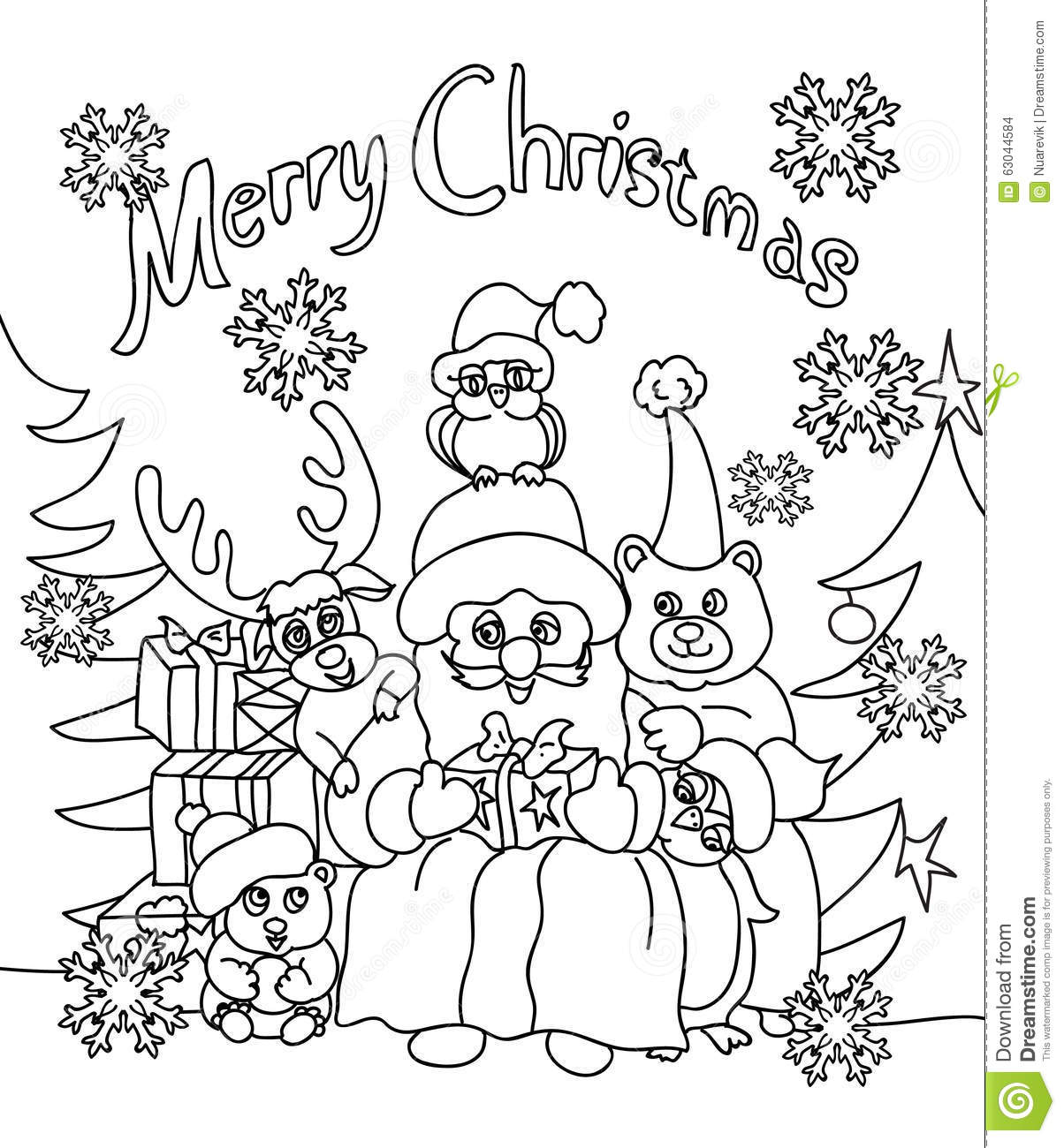 Birthday Cards Christmas Coloring Pages
