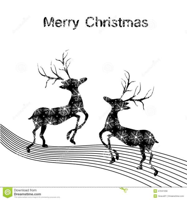 Christmas deer stock vector. Image of december, isolated ...