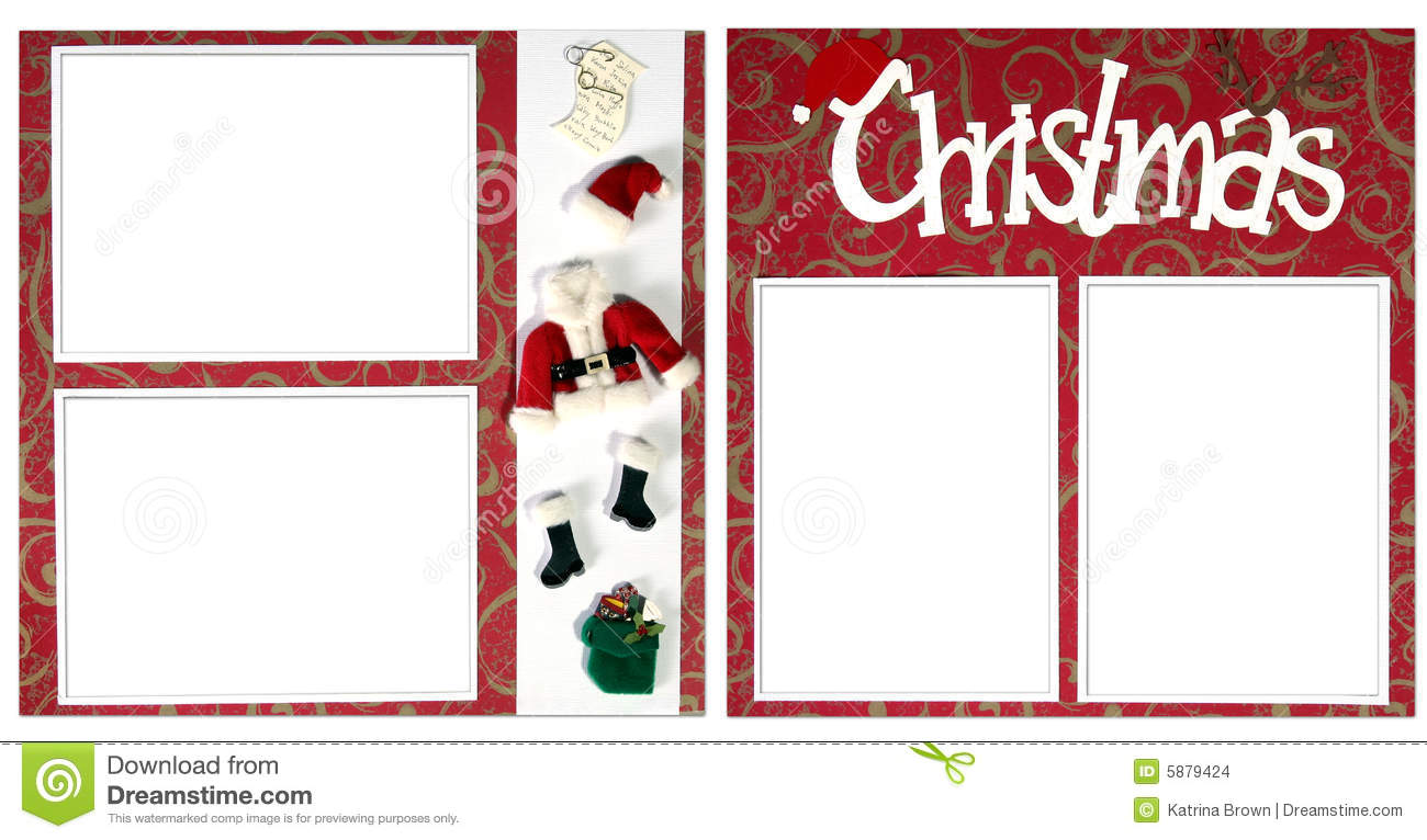 Christmas Digital Scrapbook Page Stock Images Image 5879424