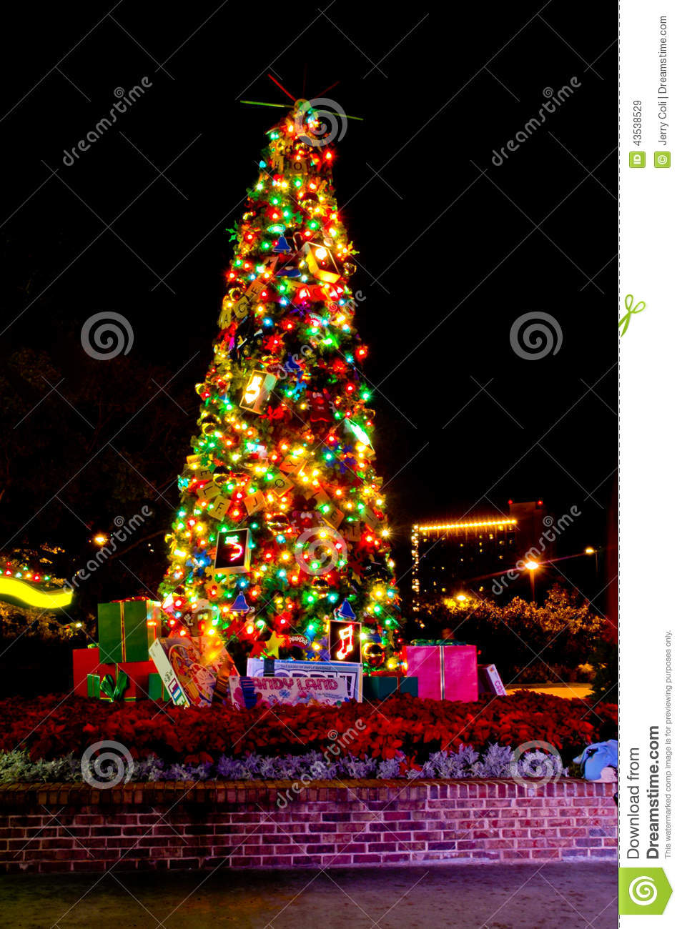 Christmas In Downtown Disney Editorial Stock Image