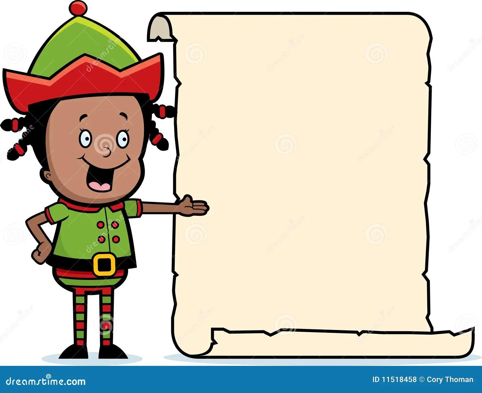 Christmas Elf List Royalty Free Stock Photos Image 11518458