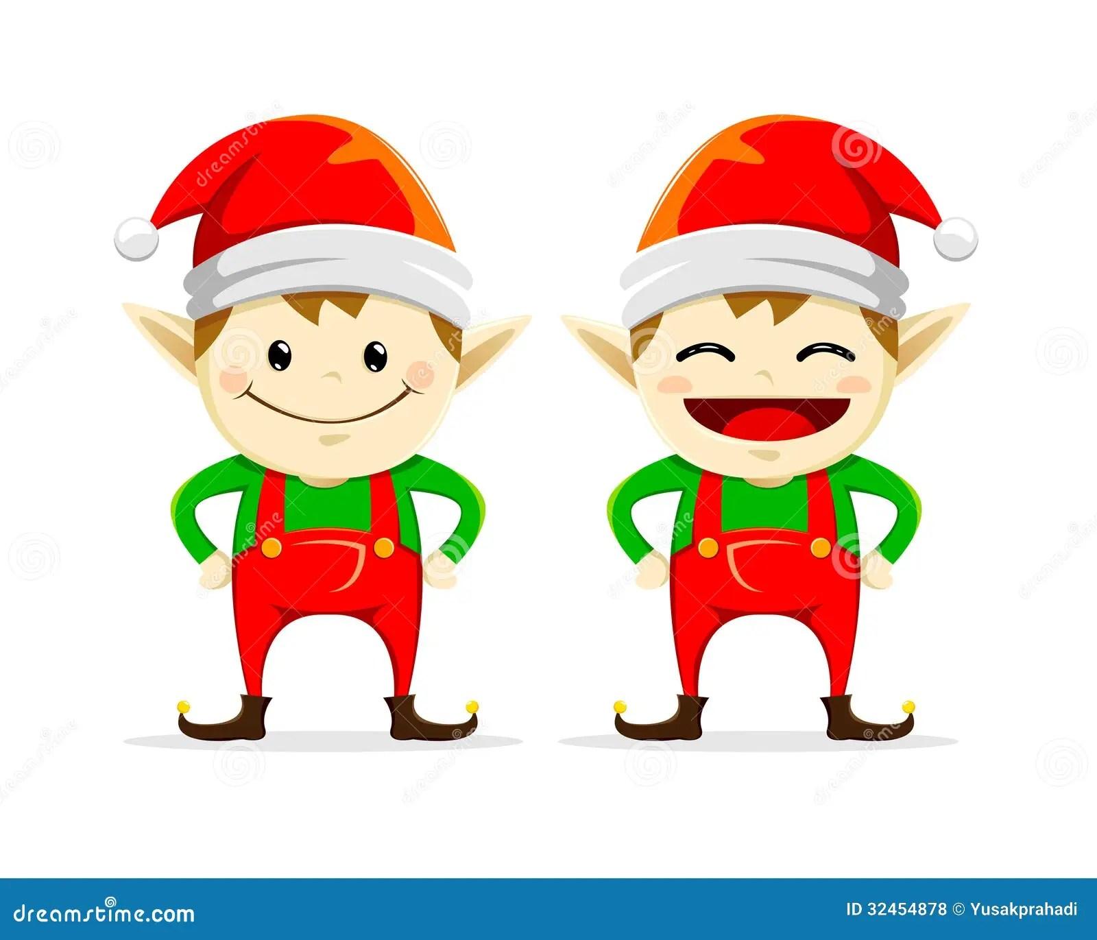 Christmas Elf Twin Stock Vector Illustration Of Cartoon