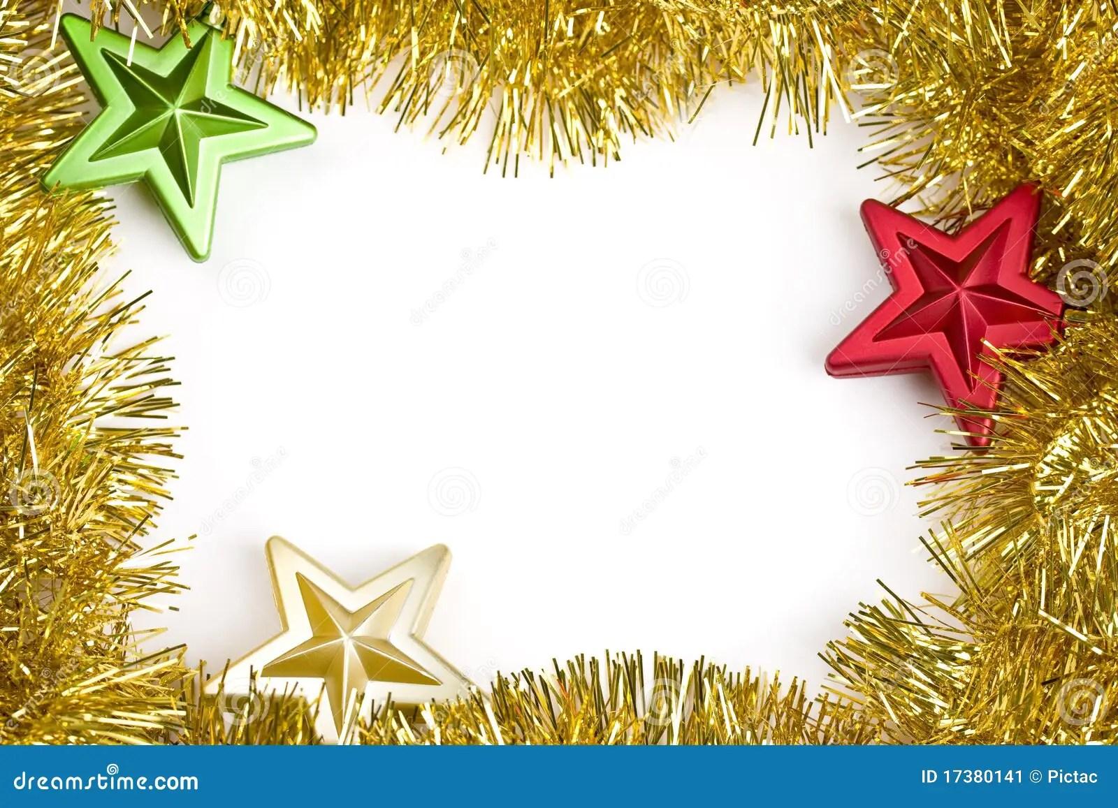 Christmas Garland Frame Stock Image Image 17380141