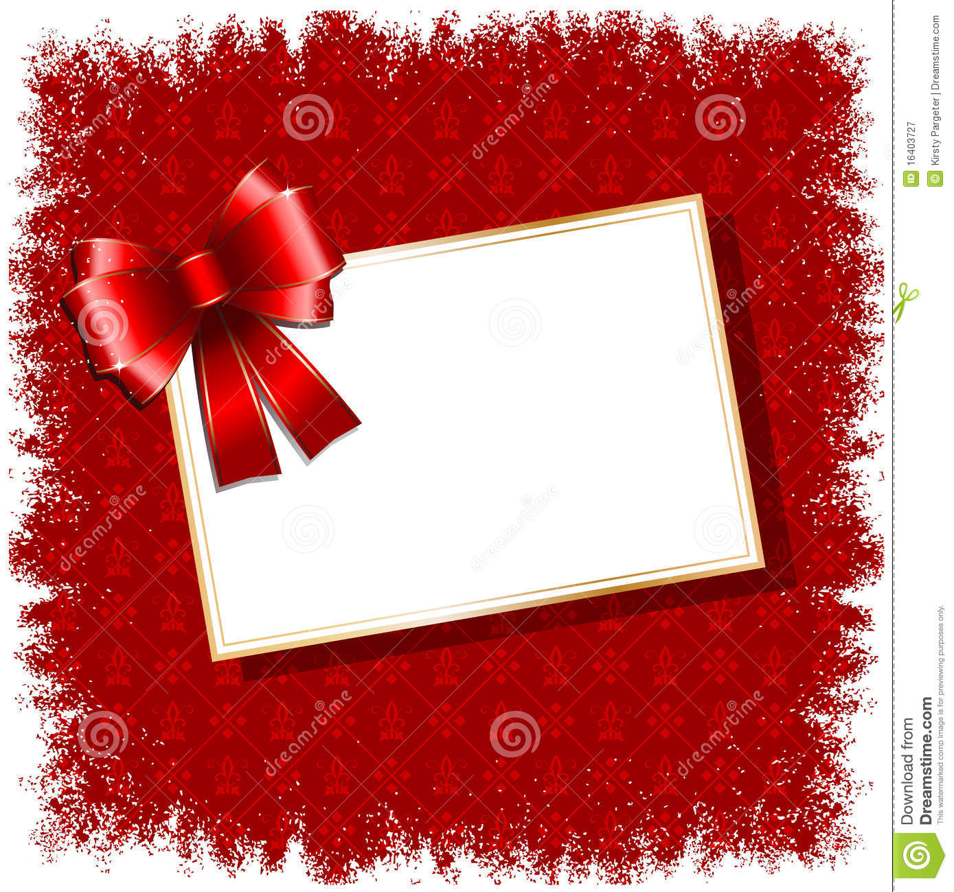 Christmas Gift Label Background Royalty Free Stock