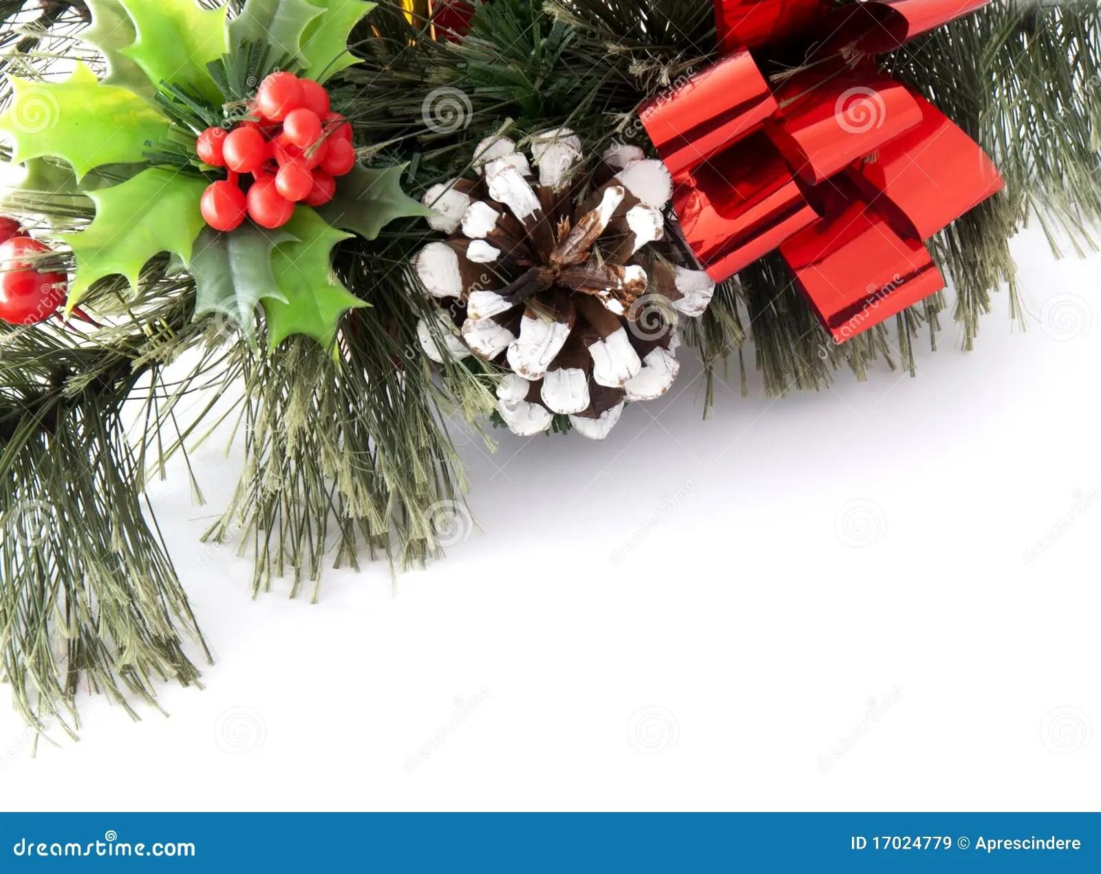 Christmas Greenery Card Stock Image Image Of Holiday