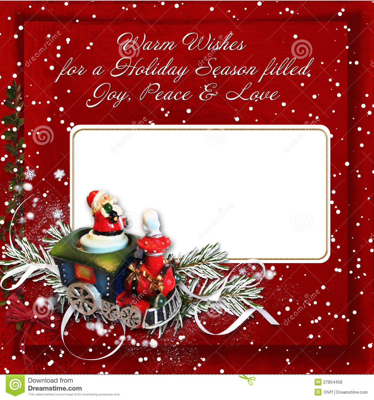 Christmas Greeting Card With Warm Wishes Royalty Free